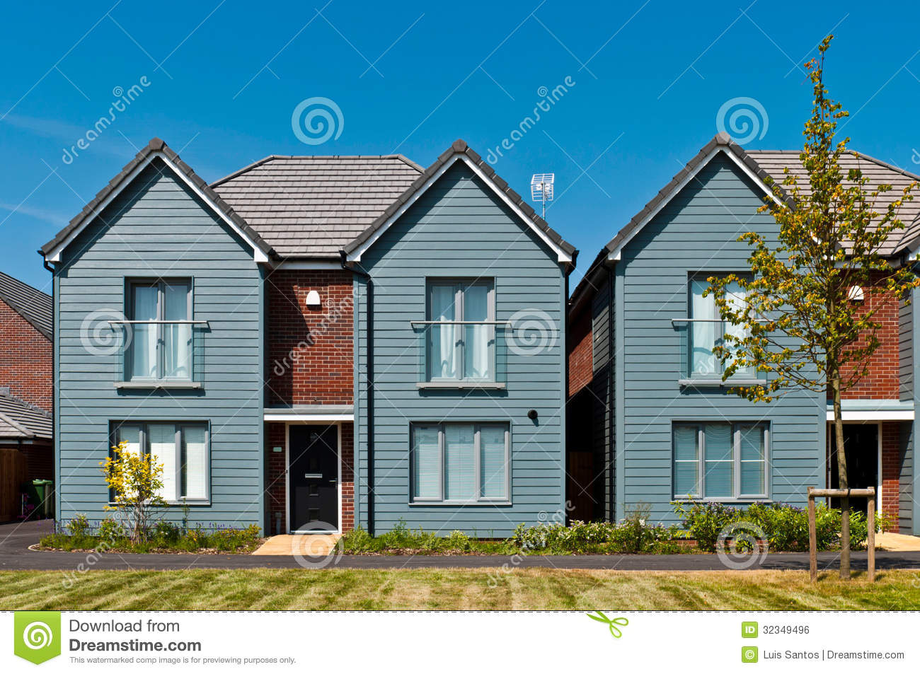 British house royalty free stock image image 32349496 for Residential house styles