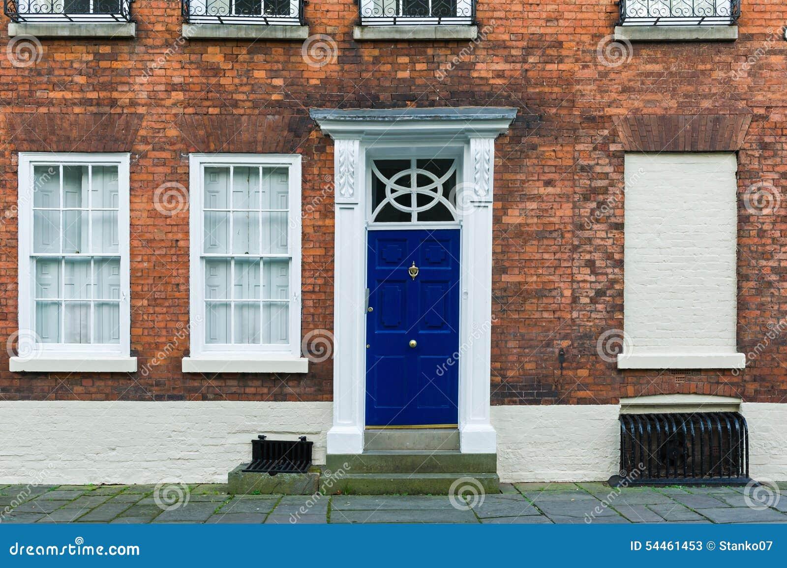 British House Entrance Door Stock Photo - Image: 54461453