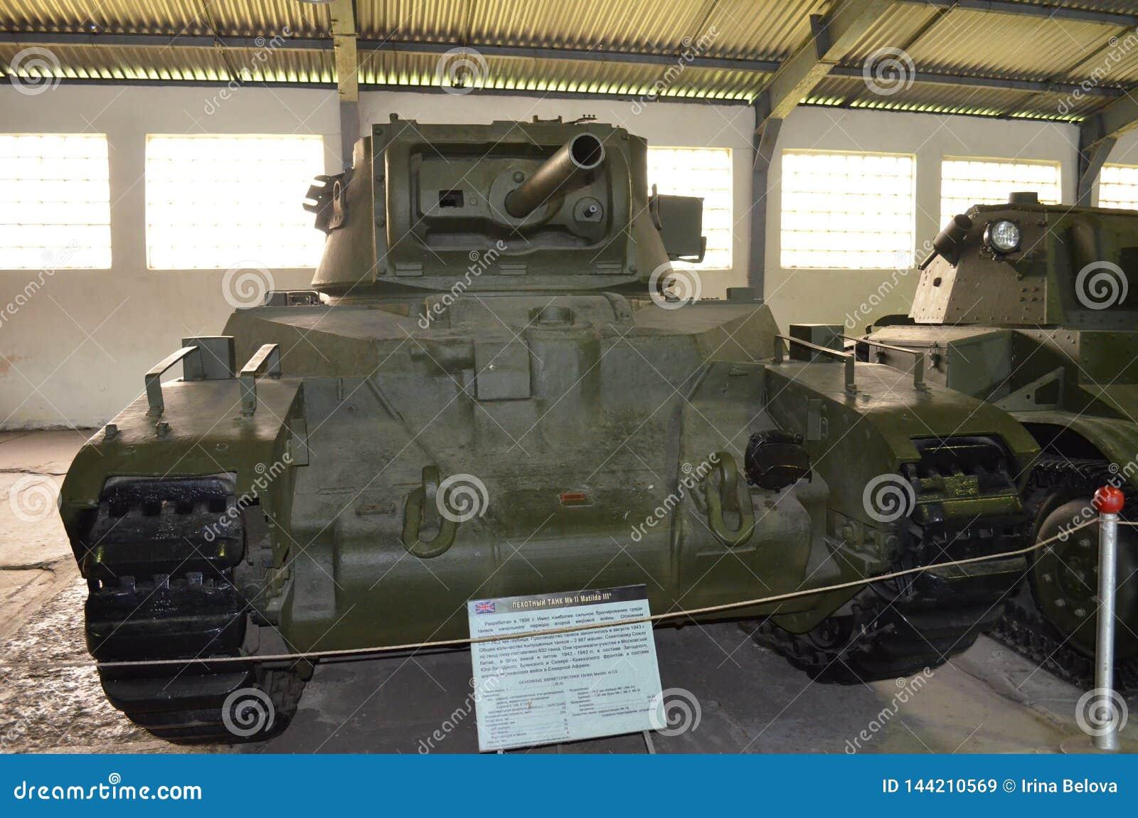 British Infantry Tank Mk Ii Matilda Iii  Editorial Stock