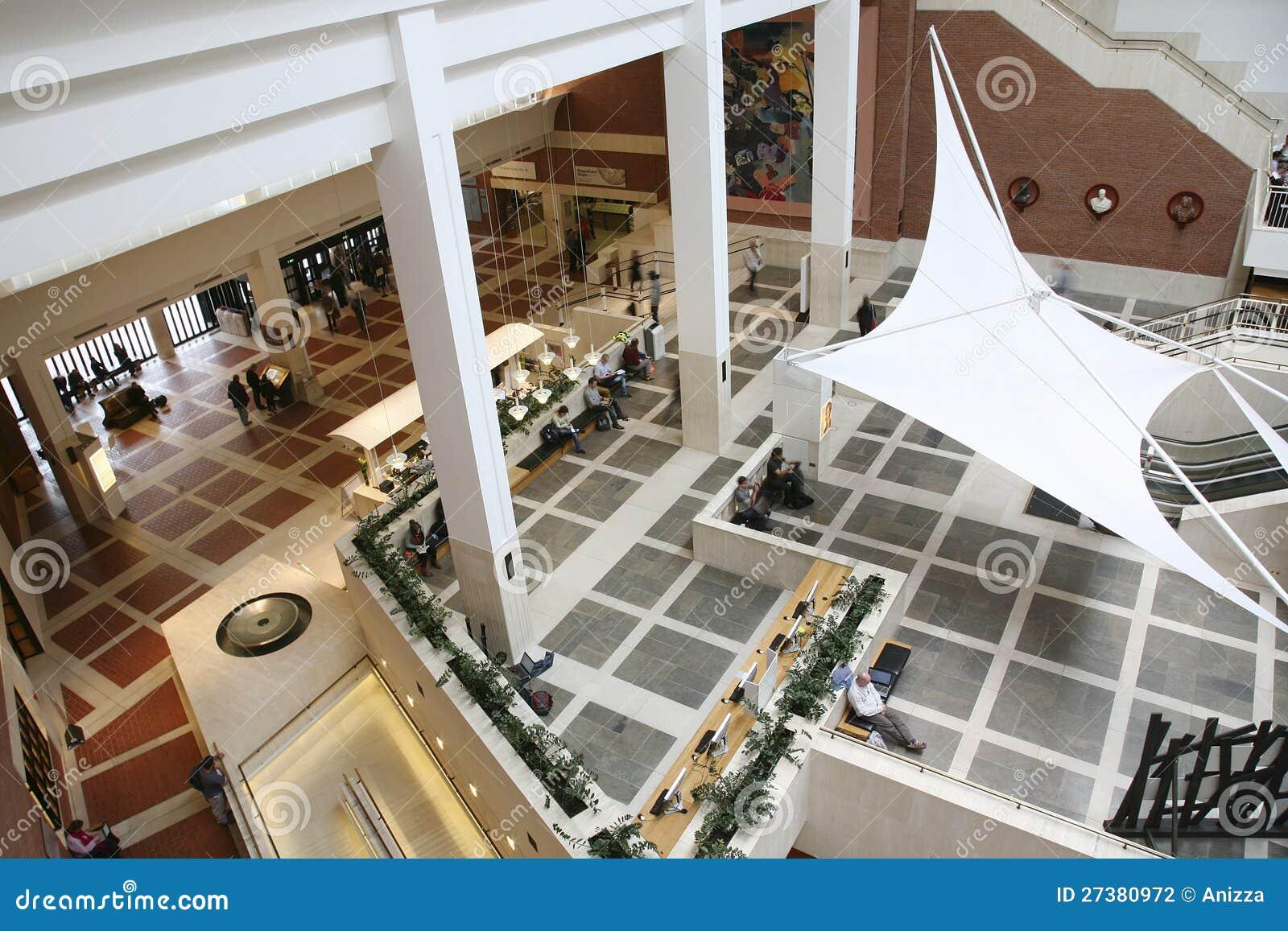 British Building Inside Interior Library