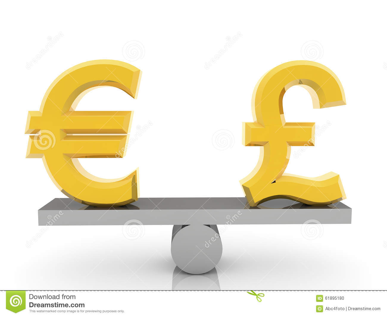 British pound sign and euro sign on seesaw stock photo image of british pound sign and euro sign on seesaw biocorpaavc Image collections