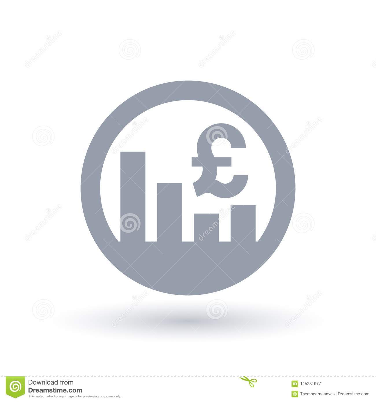 British Pound Stock Market Icon Great Britain Currency Exchang