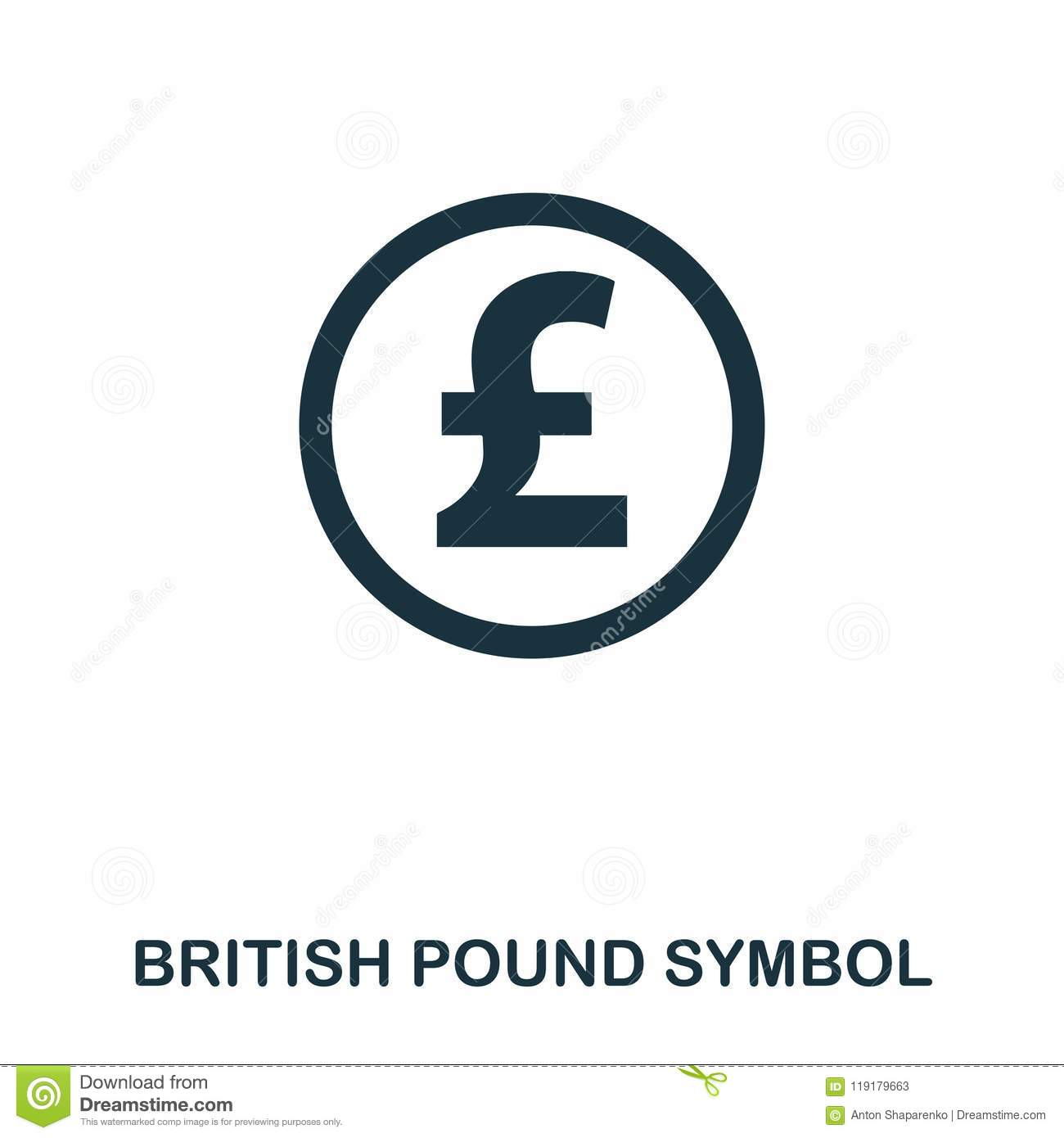 British Pound Symbol Icon Mobile App Printing Web Site Icon
