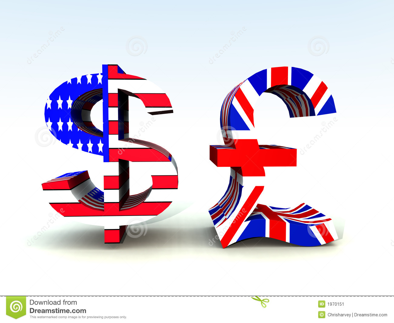 British Pound And Us Dollar 20 Stock Illustration Illustration Of