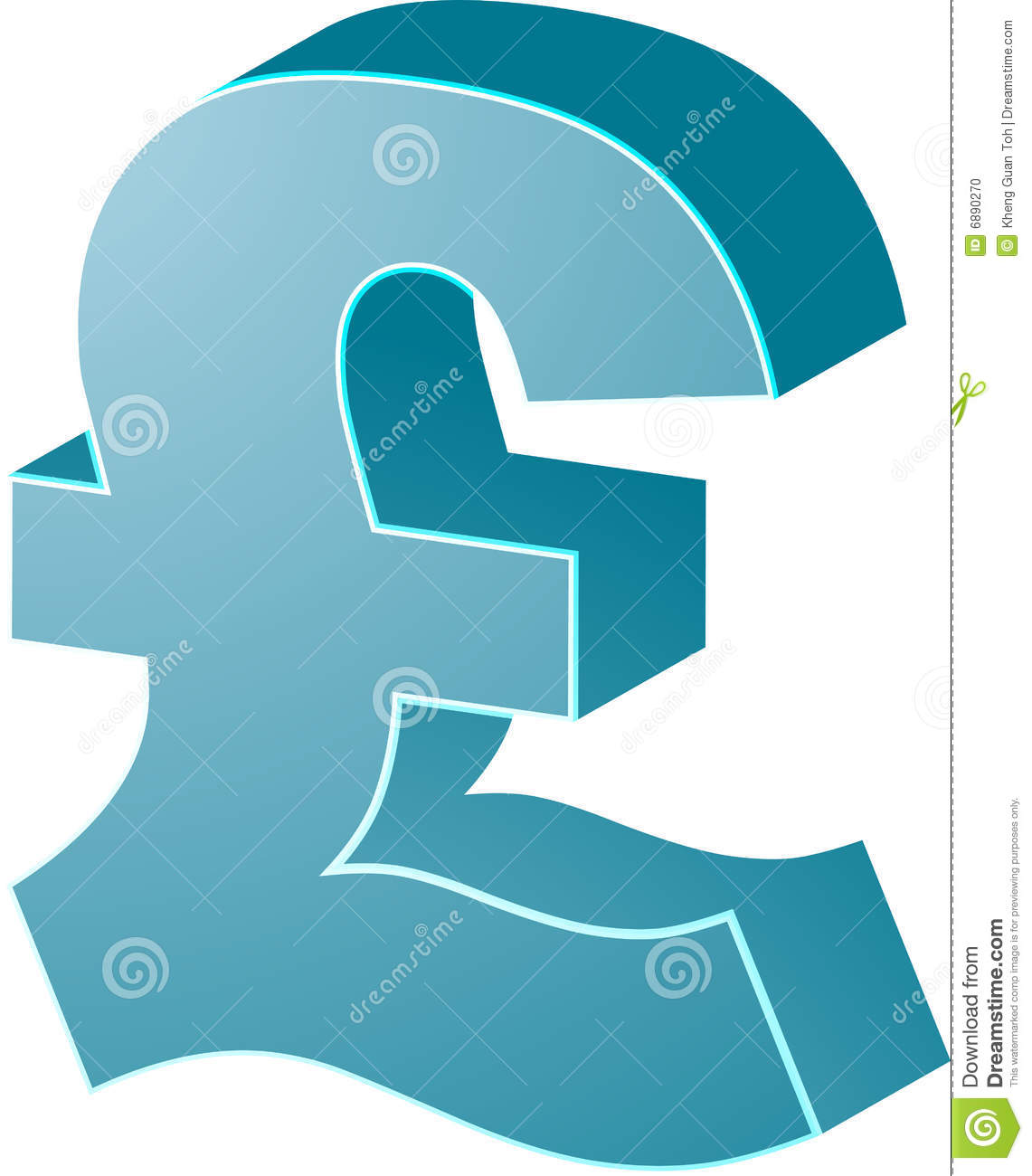 British Pounds Stock Vector Illustration Of Financial 6890270