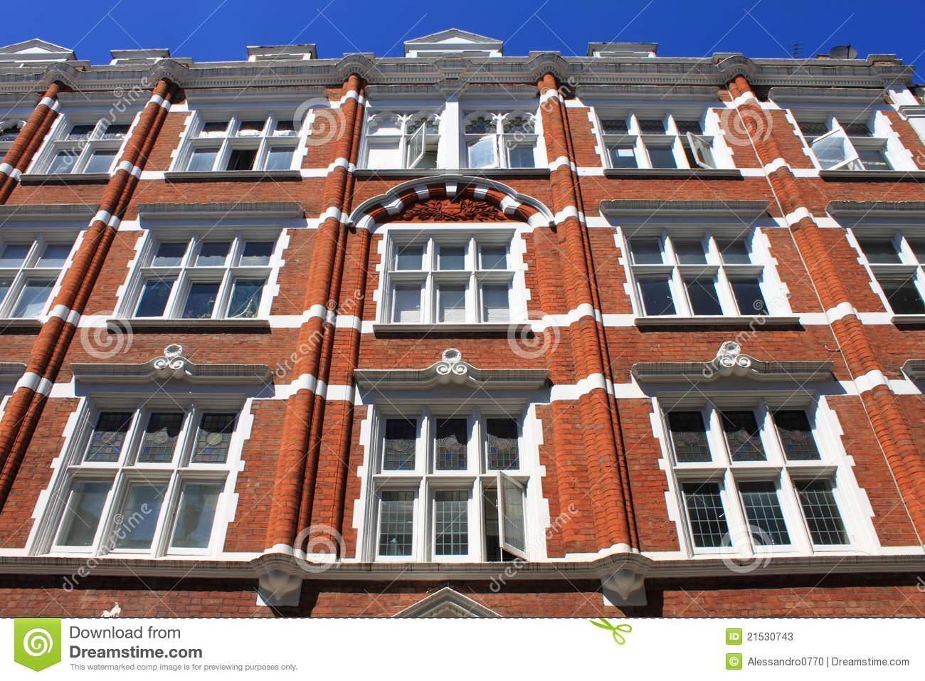 British red brick building stock image. Image of built ...