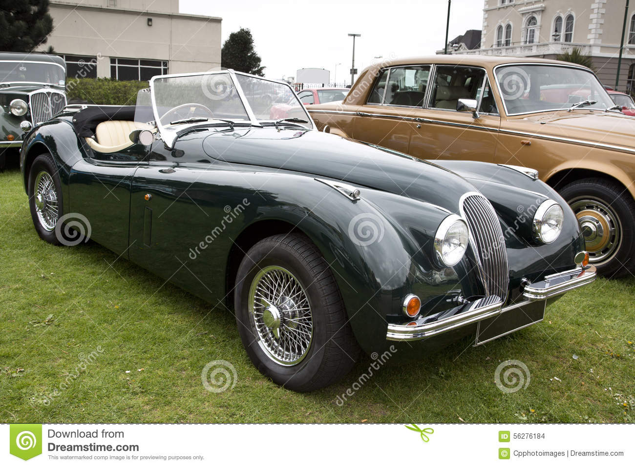 British Soft Top Classic Car Stock Photo - Image of show, bumper ...