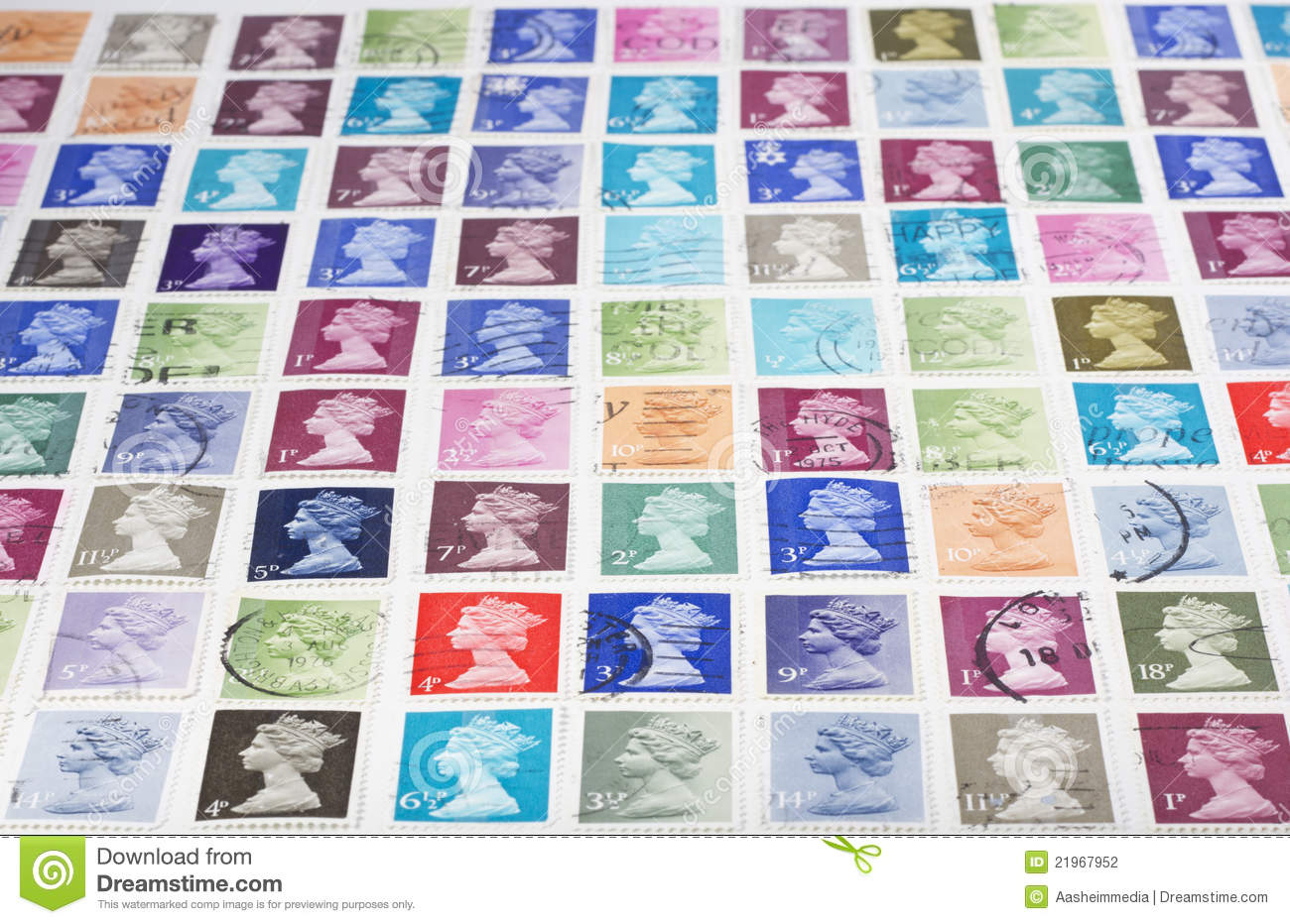 British Stamps Stock Photography Image 21967952