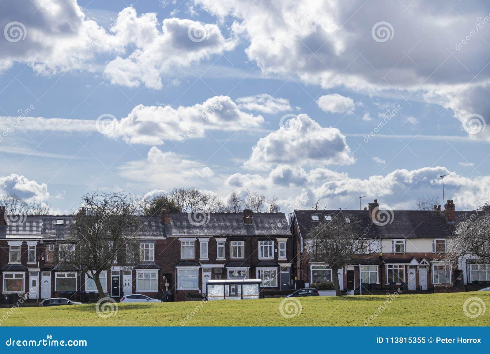 British terraced street in Birmingham