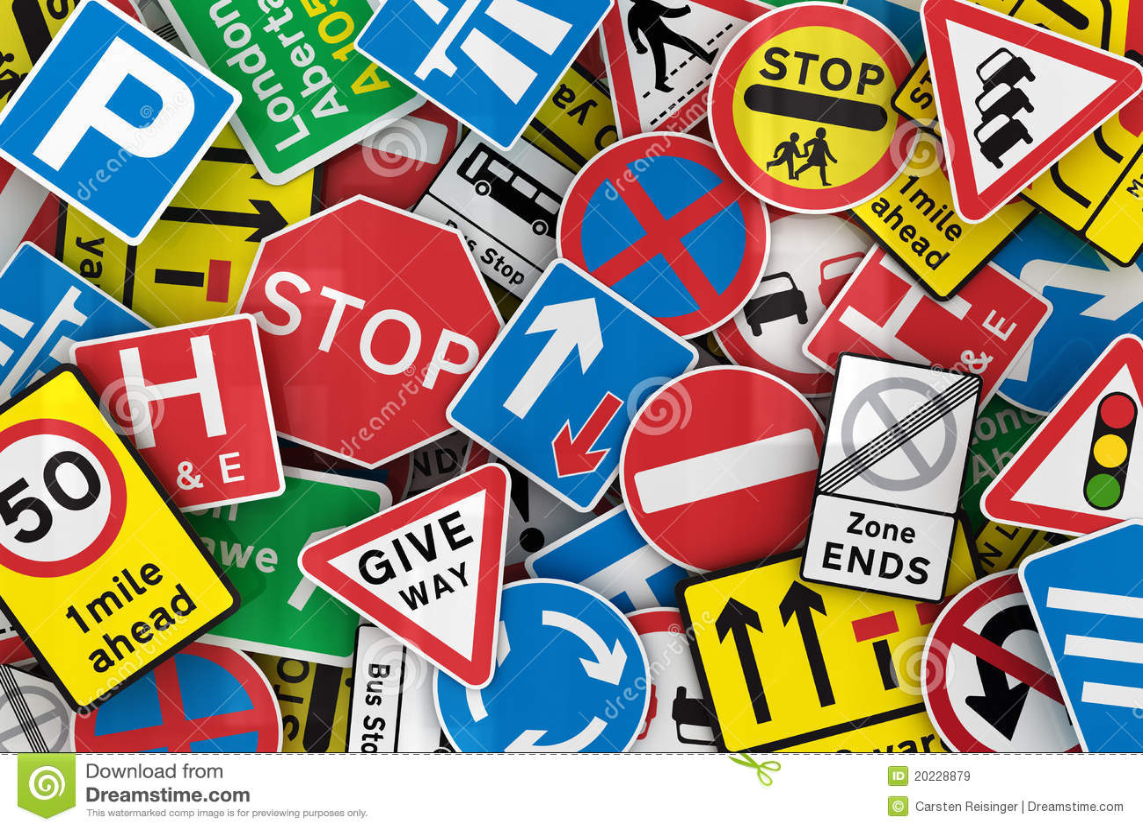 British trafik för många tecken