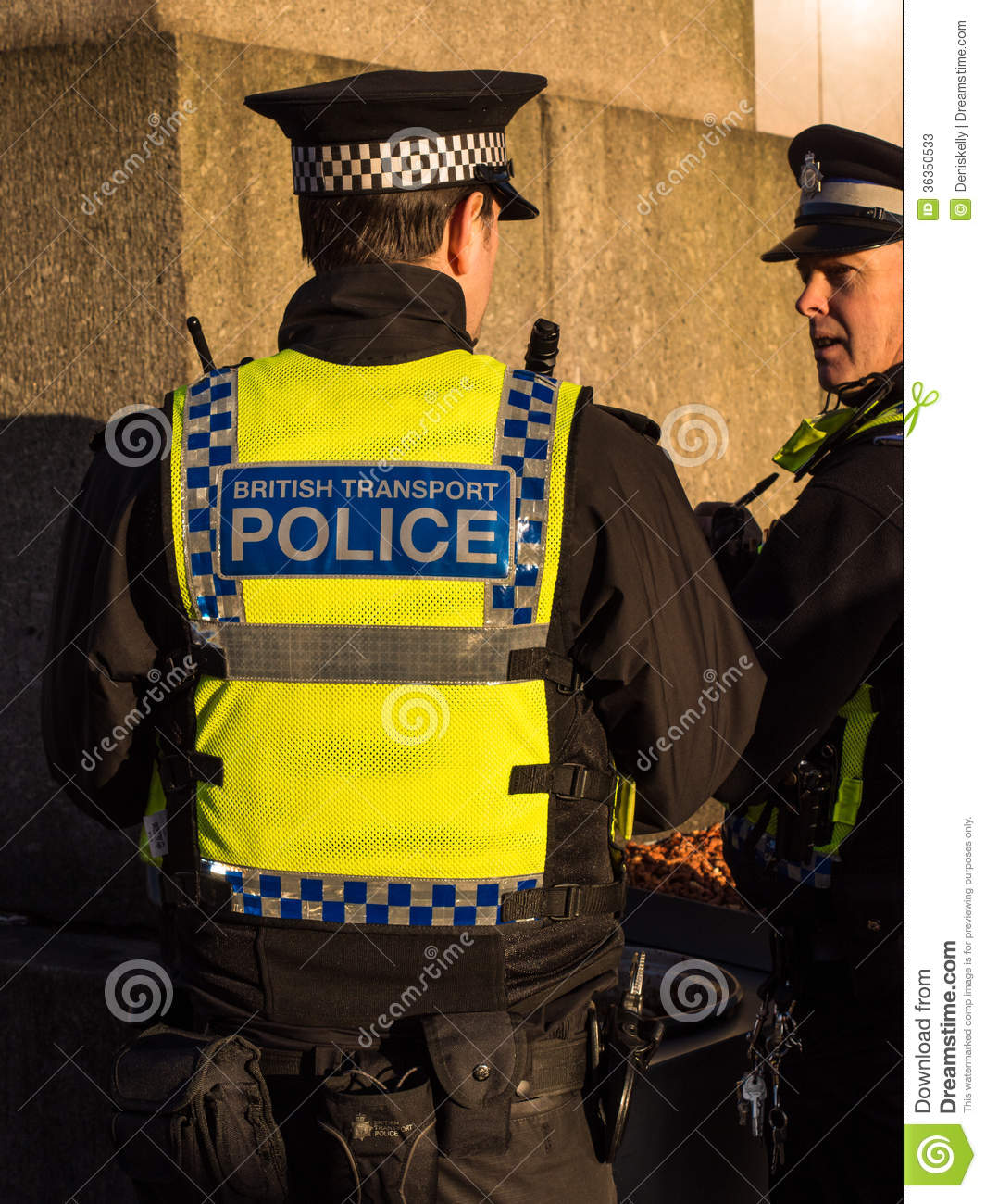 british transport police officers editorial stock photo