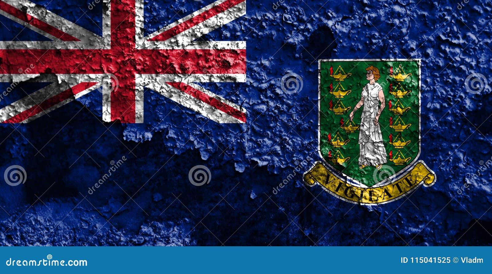 British Virgin Islands grungeflagga, brittiska utländska territorier
