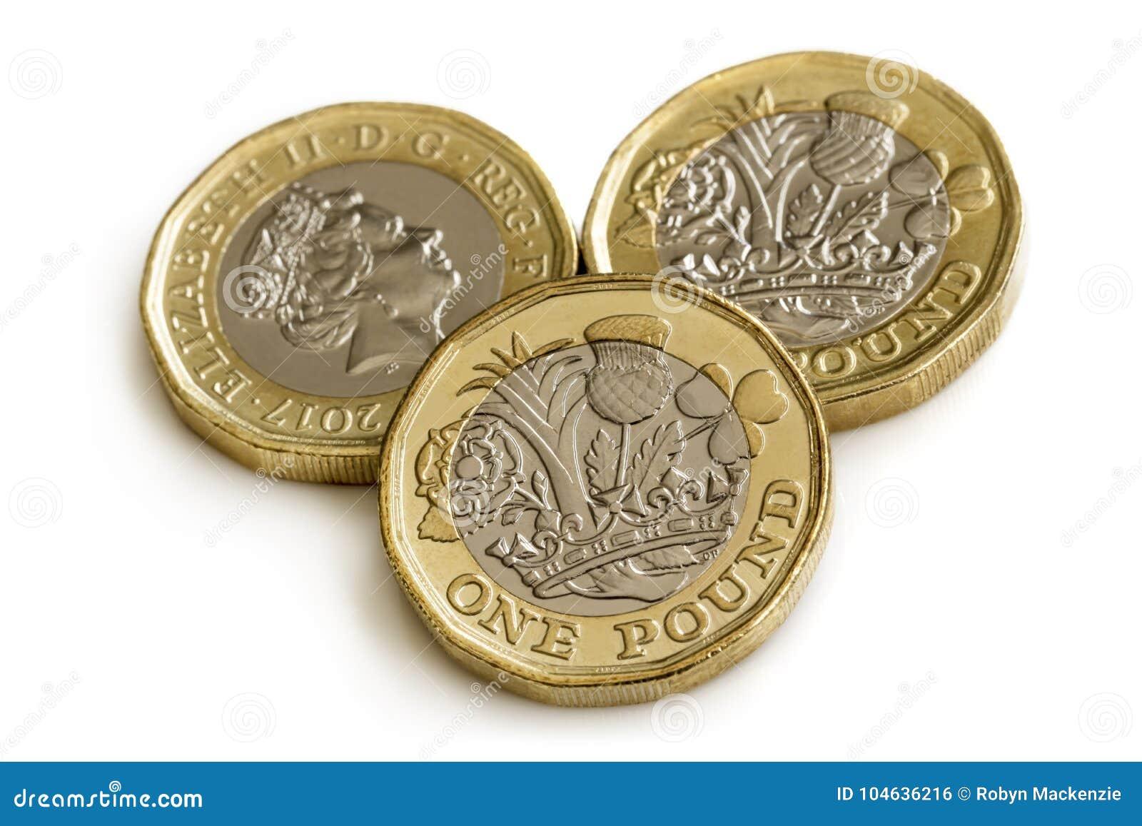 Download Britse Die Pondmuntstukken Op Wit Worden Geïsoleerd Stock Foto - Afbeelding bestaande uit geld, ponden: 104636216