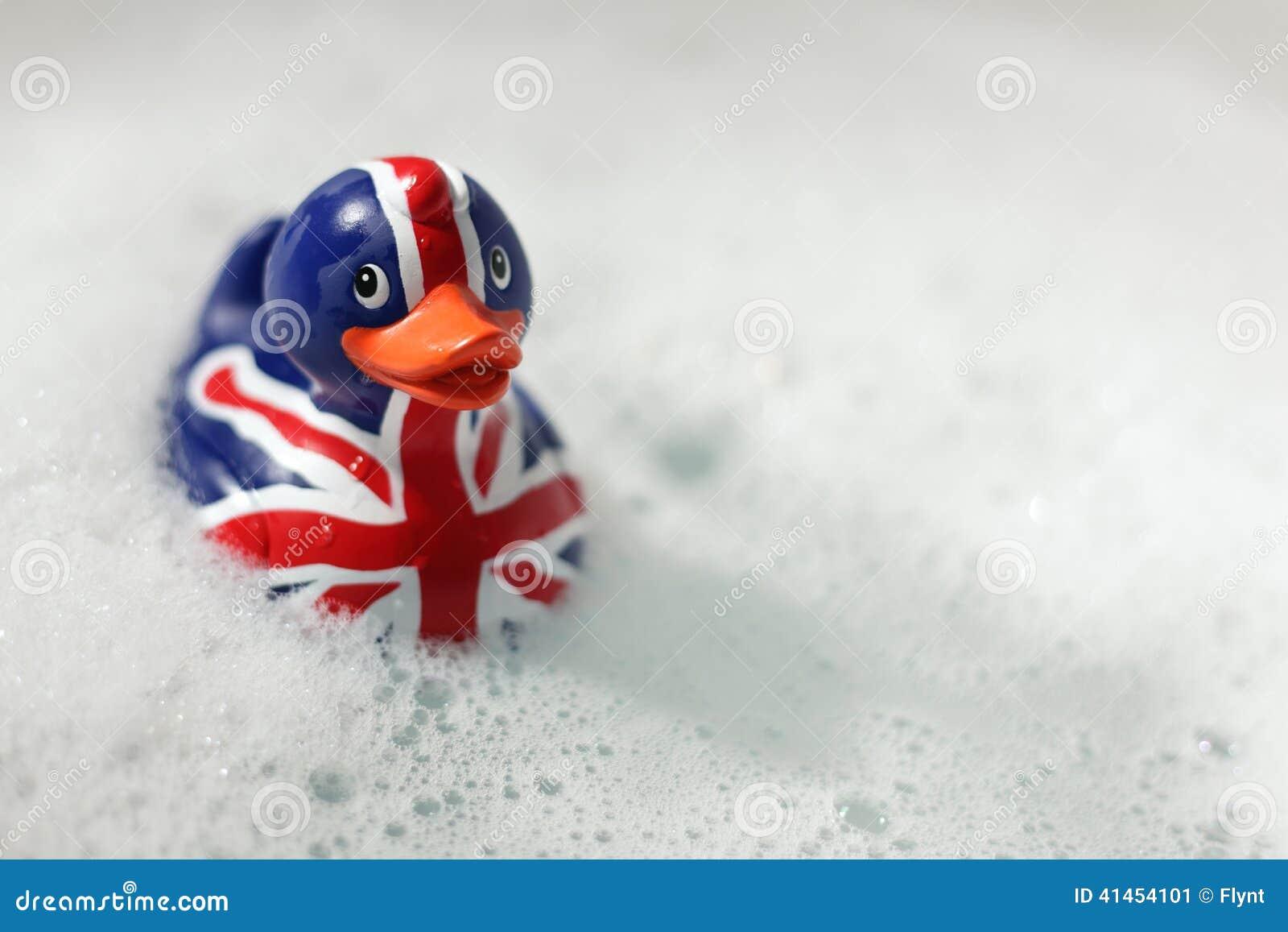 Britse vlag rubbereend in het bad stock foto afbeelding 41454101 for Foto in het bad