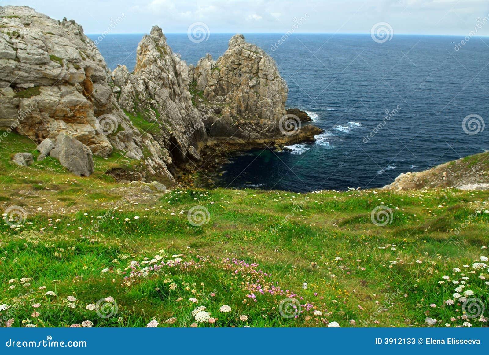 Brittany wybrzeża atlantyckiego