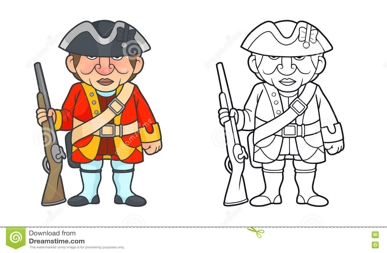 Brittisk soldat med ett geväranseende på en stolpe