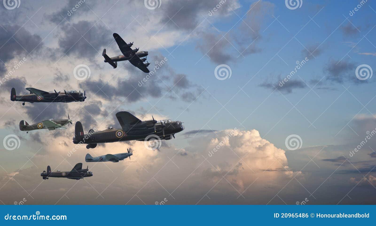 Brittisk tappning för flygbildande två kriger världen
