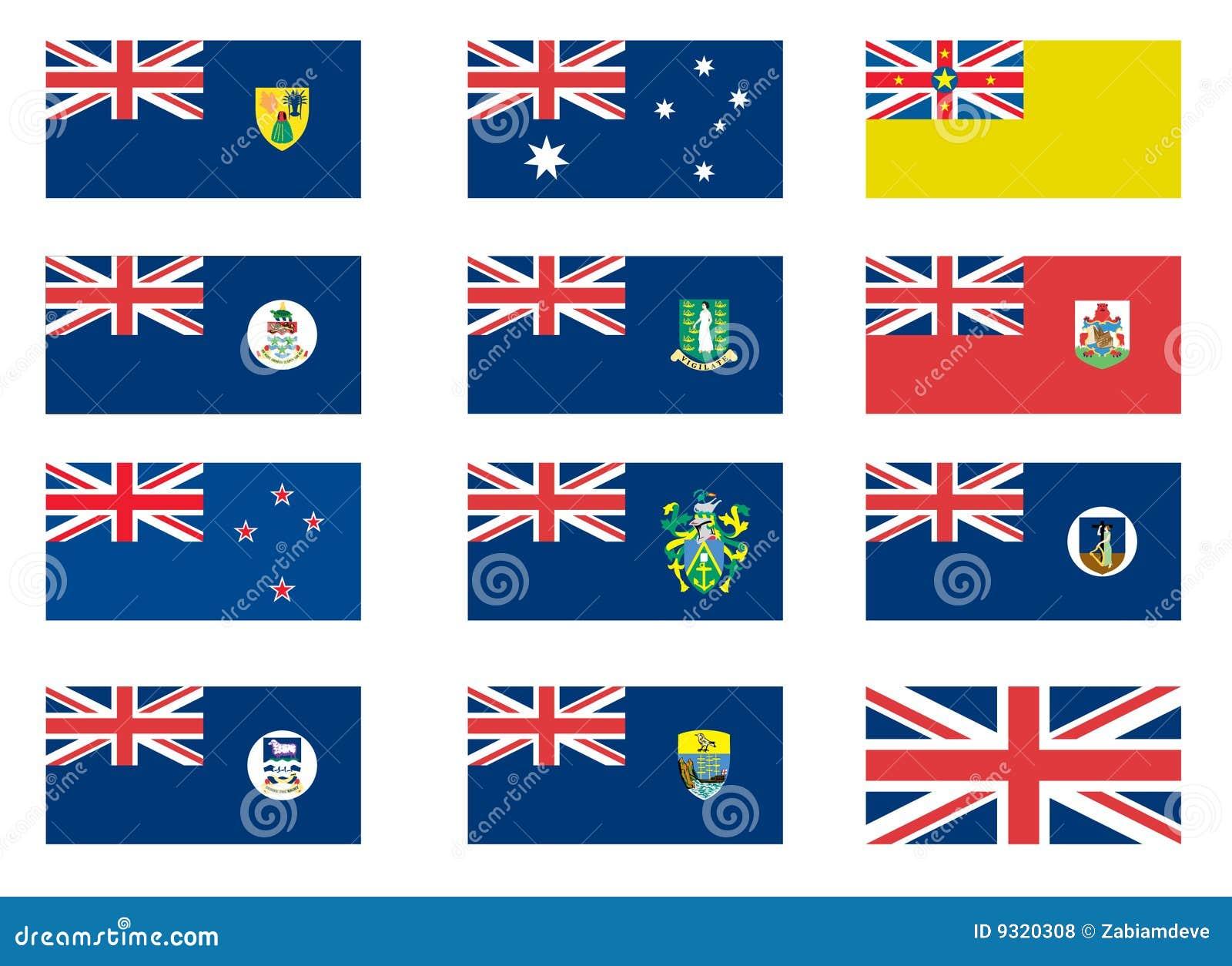Brittiska koloniala flaggor