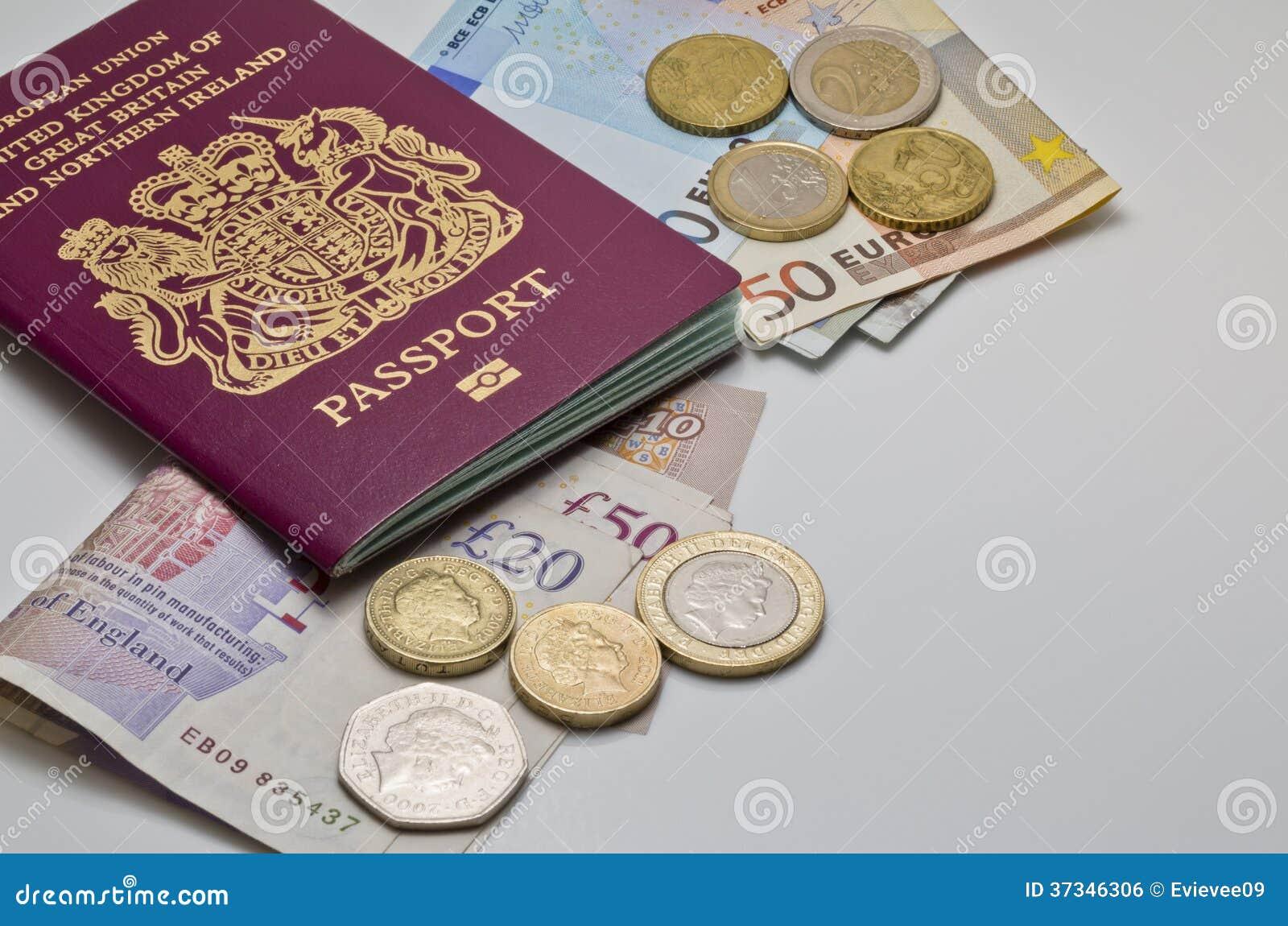 Brittiskt pass och pengar
