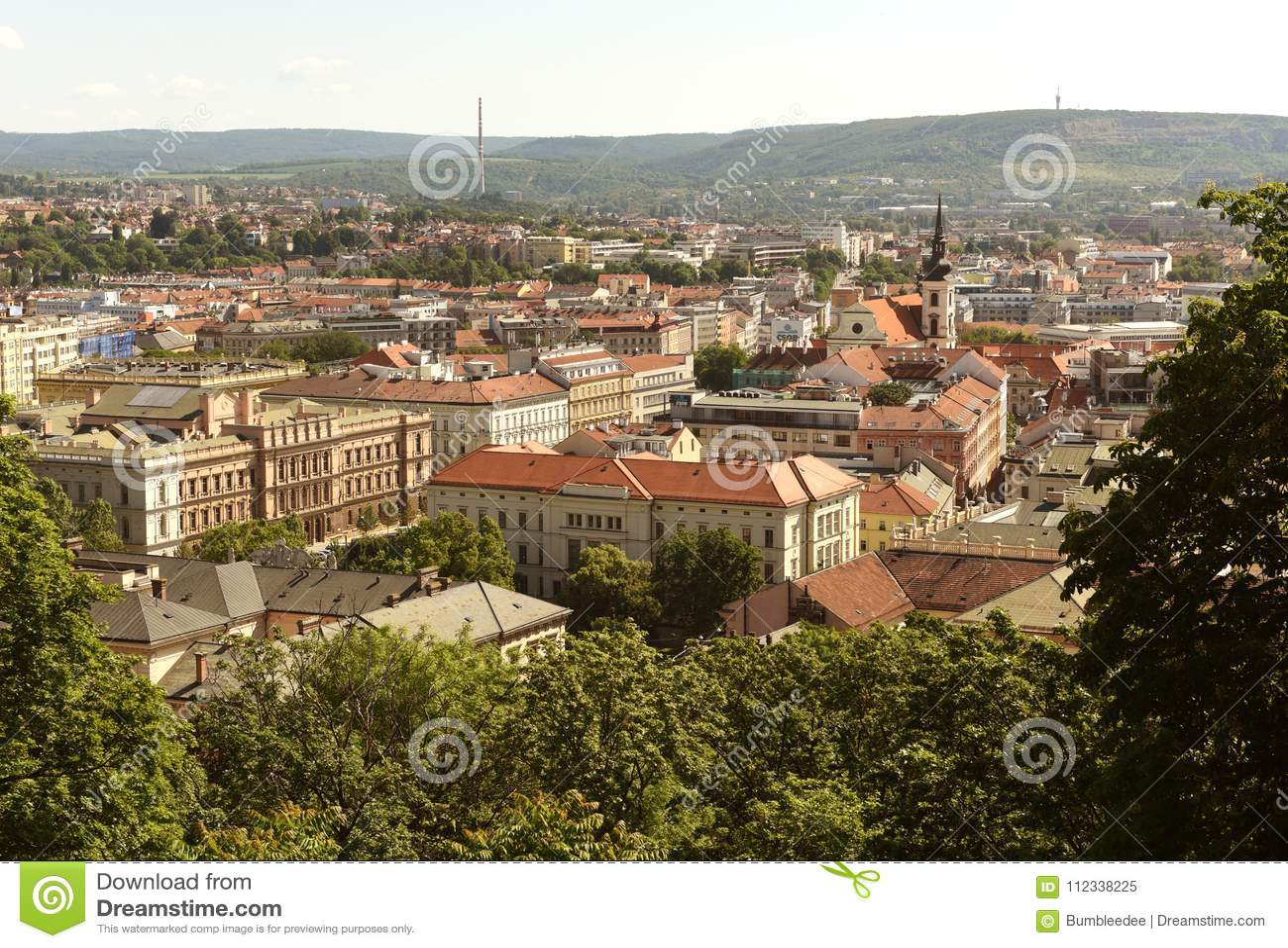 Brno cityscape, Tsjechische Republiek