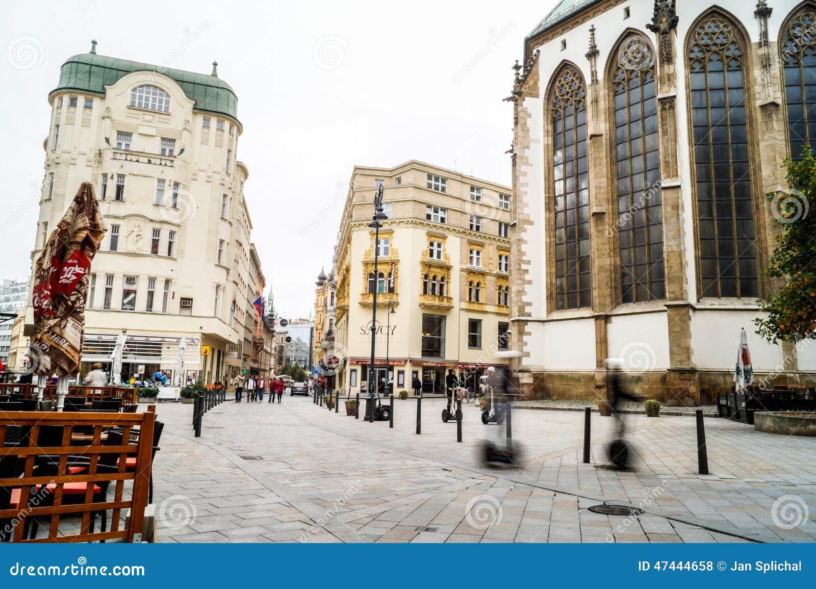 Brno levende straat