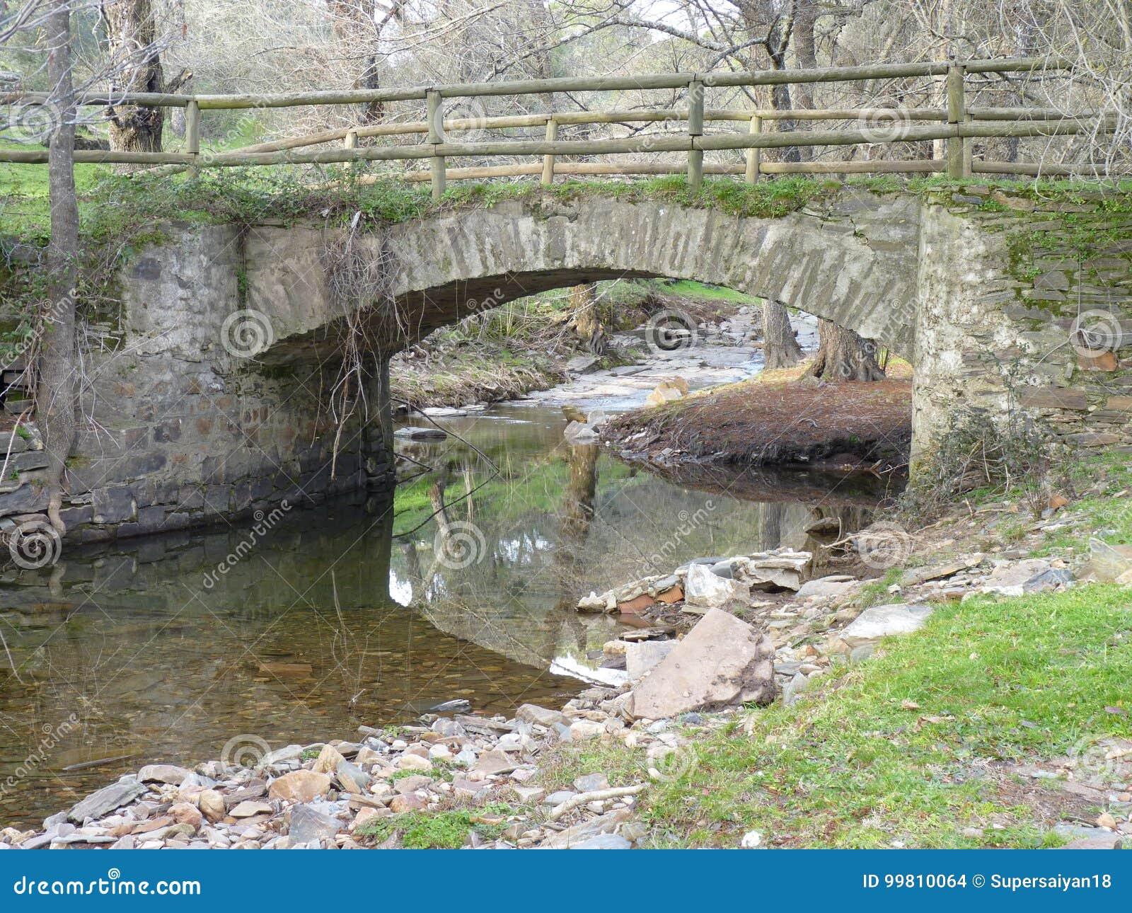 Bro över flodstenen