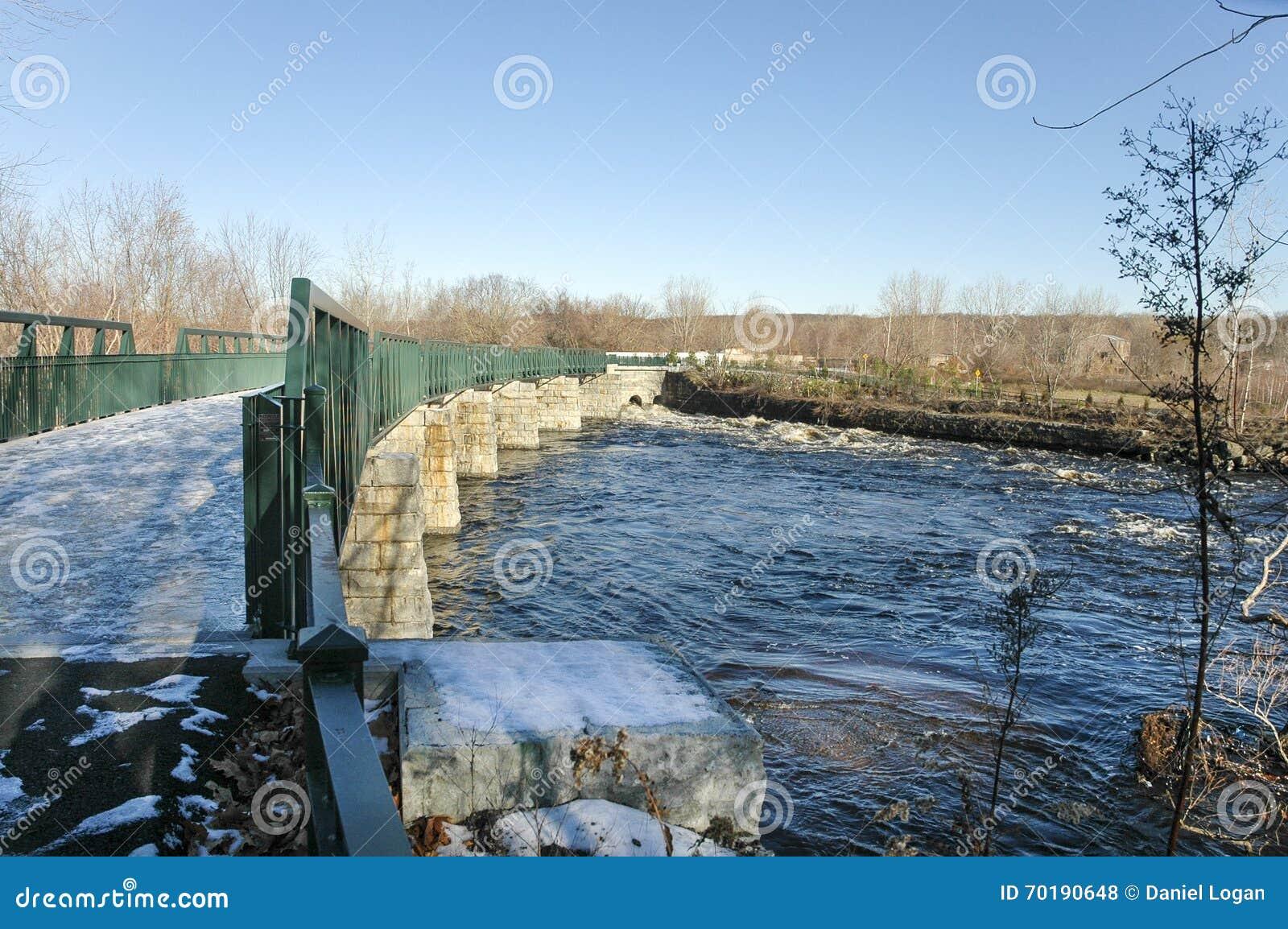 Bro över snabbt flyttningvatten