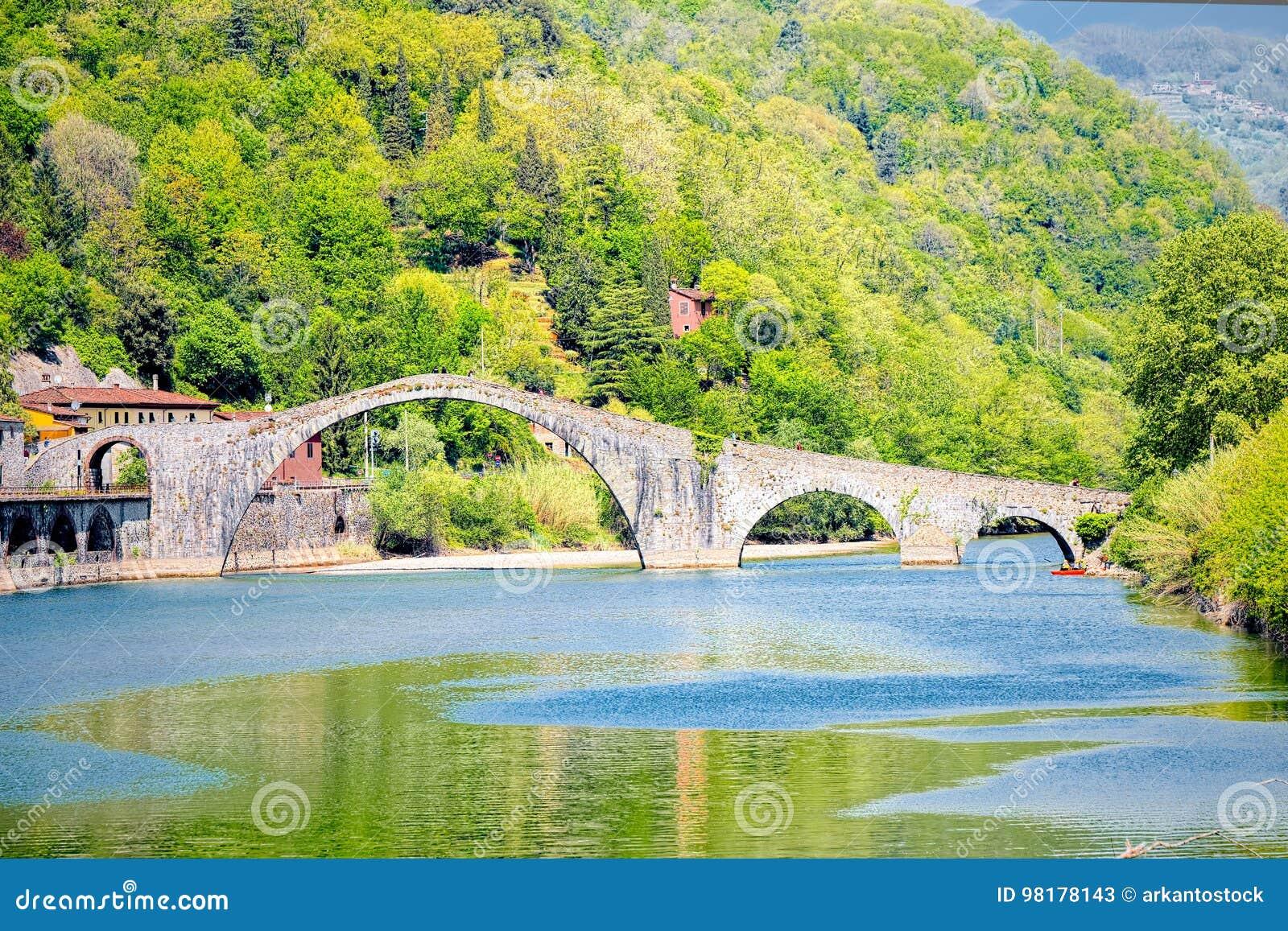 Bro av jäkeln, Ponte della Maddalena, Garfagnana, Lucca