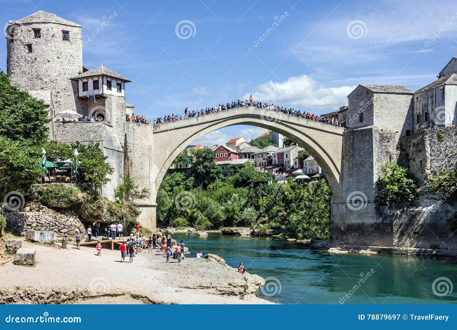 Bro gammala mostar stämma överens områdesområden som Bosnien gemet färgade greyed herzegovina inkluderar viktigt, planera ut terr