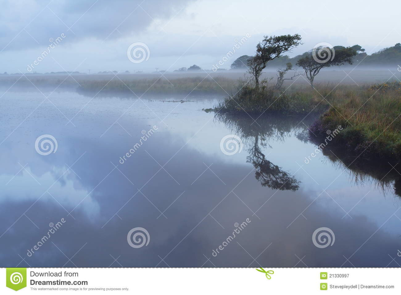 Download Broad Pool in the Mist stock image. Image of mystic, still - 21330997