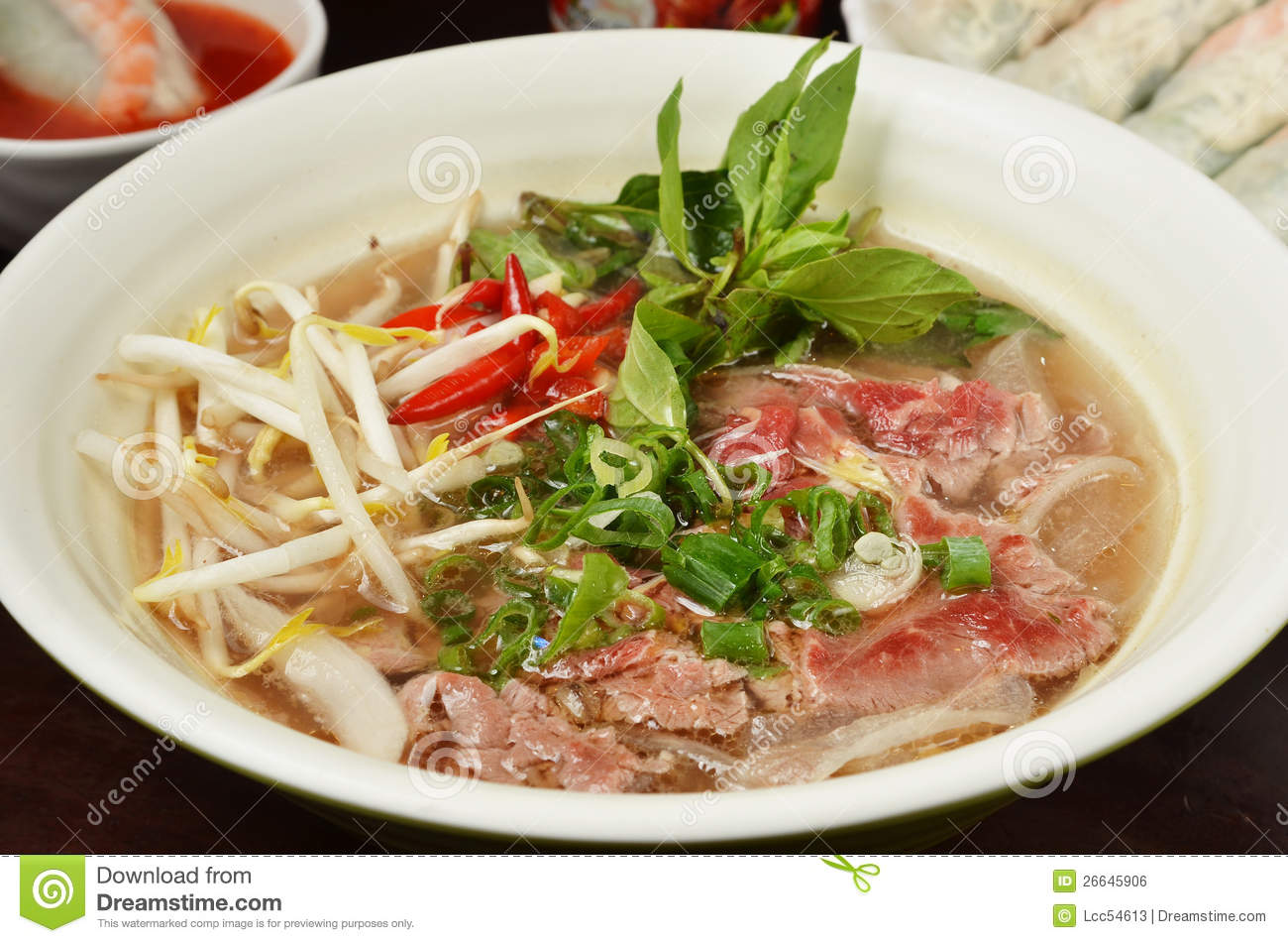 Broad Rice Noodles Soup With Beef Royalty Free Stock Image - Image ...
