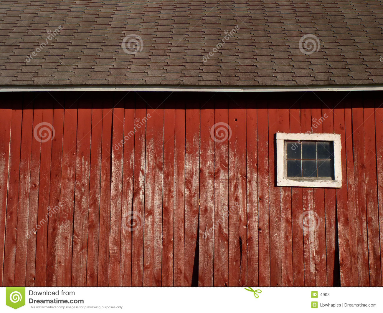 The broad side of a barn