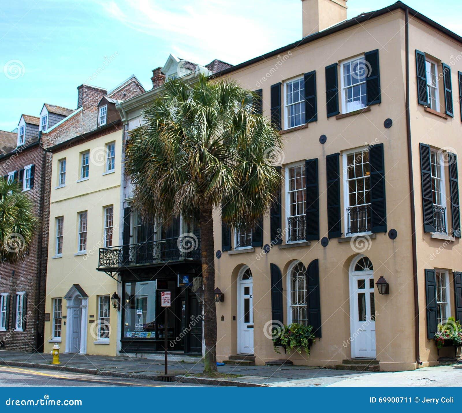 Charleston Sc Homes: Broad Street, Charleston, SC. Editorial Photo