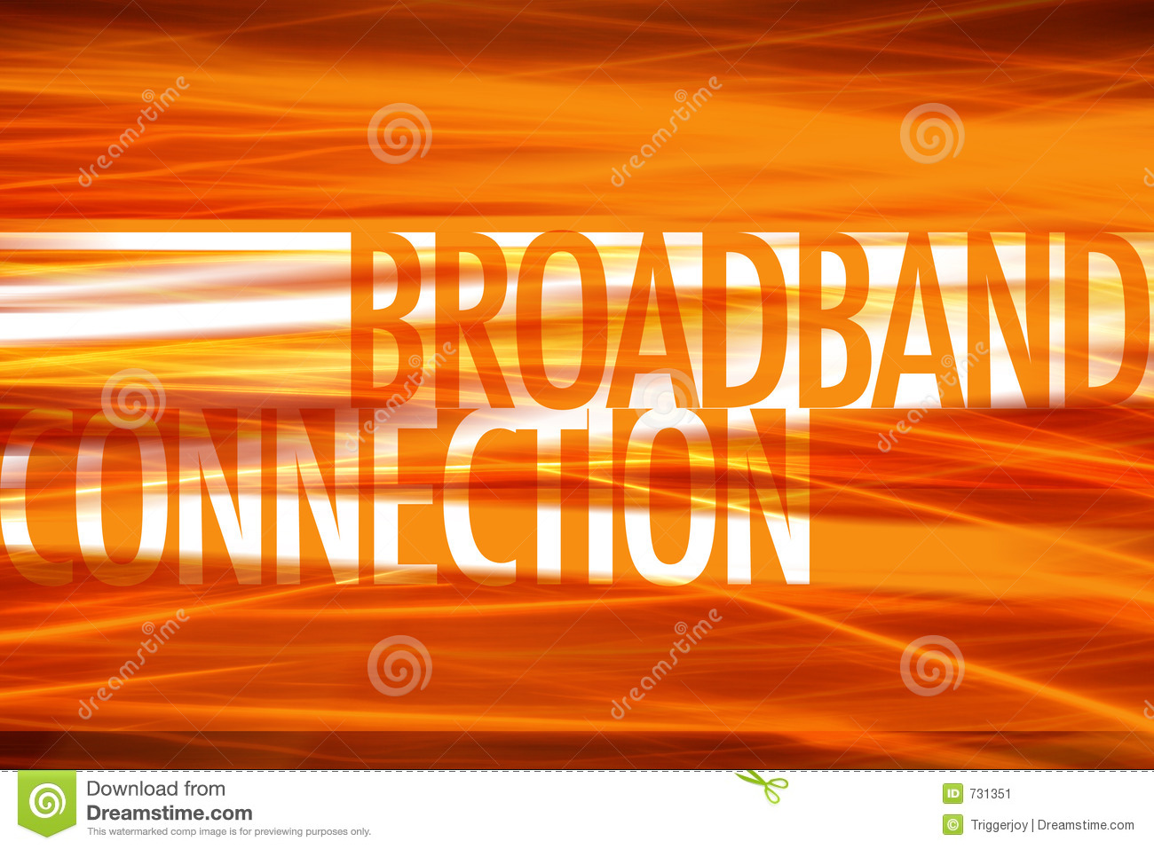 Broadband Connection- Technology background