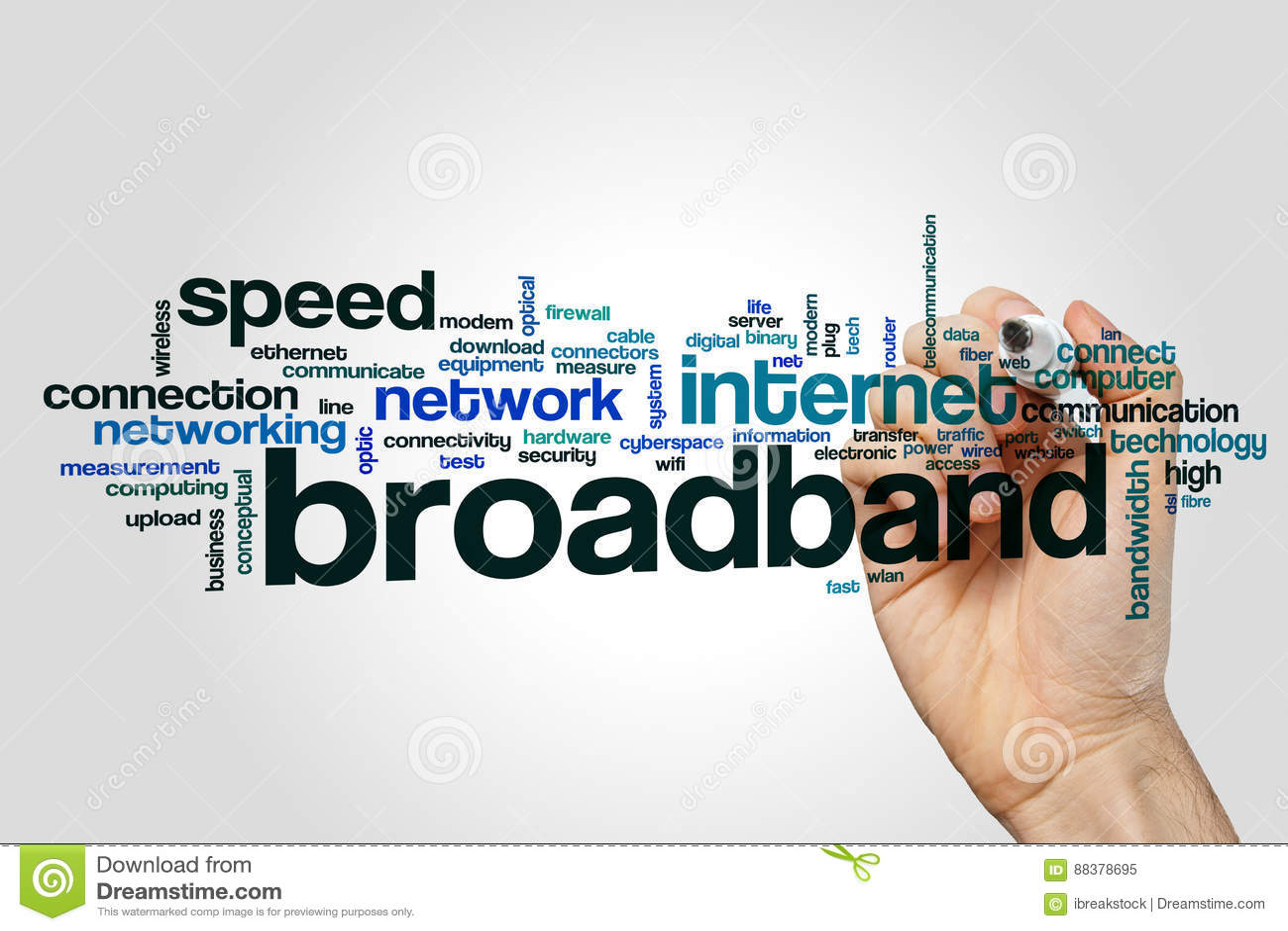 Broadband Word Cloud Stock Image Of Line Modern 88378695 Wired Diagram