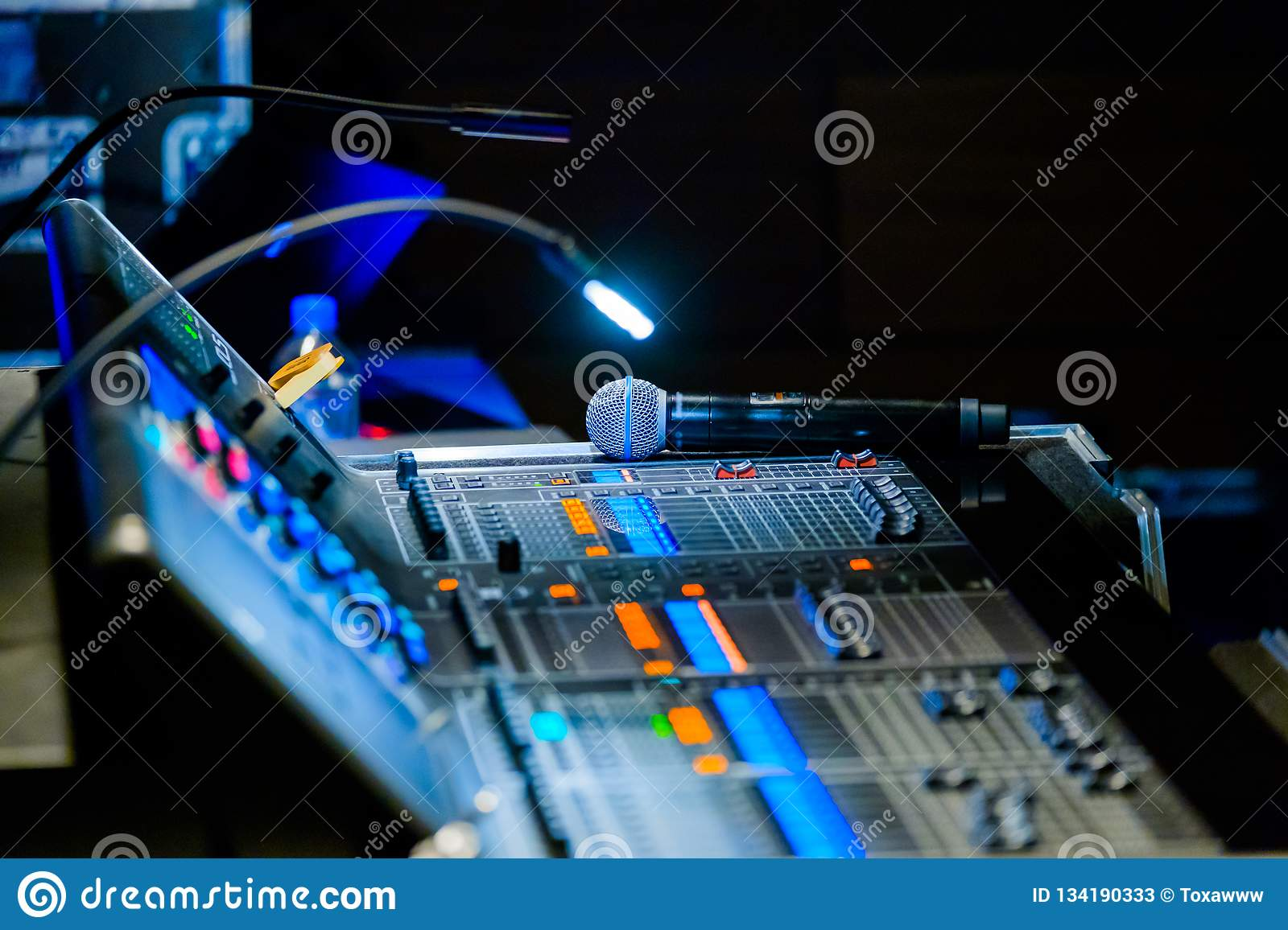 Broadcast audio and video equipment working