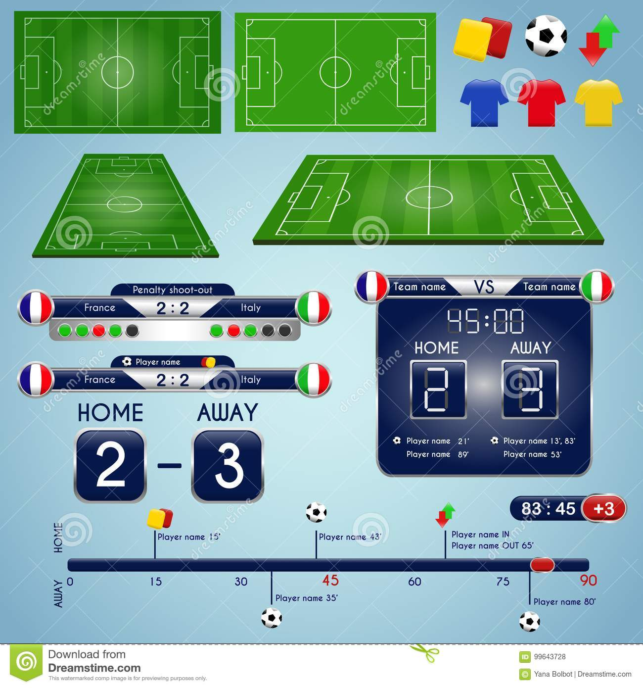Broadcast Graphics For Sport Program Soccer Match Statistics Template
