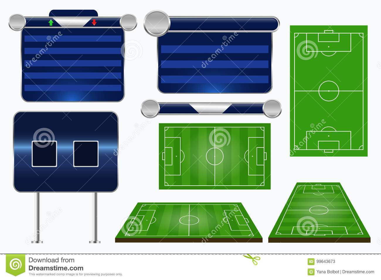 Broadcast Graphics For Sport Program Soccer Match Template