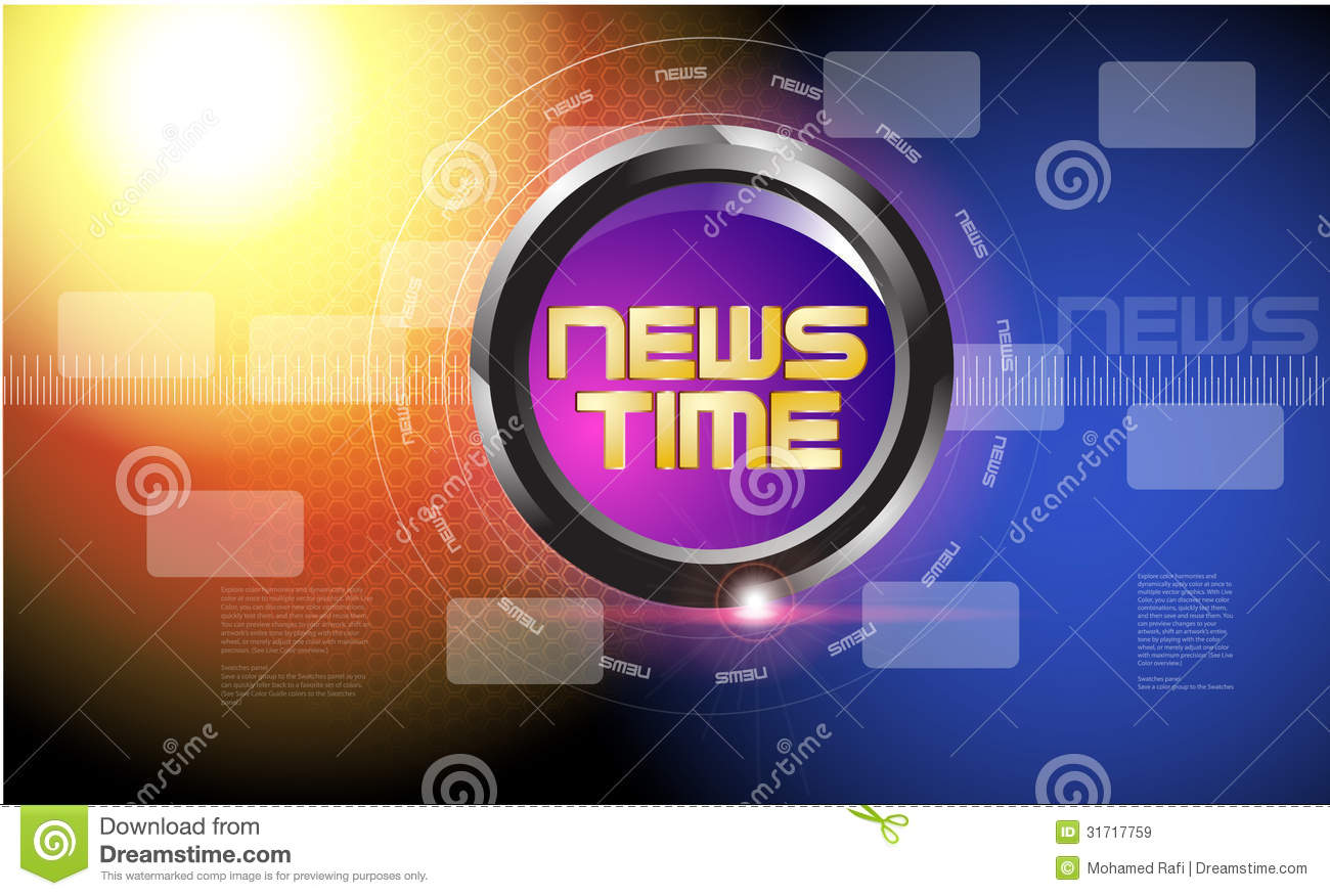 Broadcast news template stock image image of blue background broadcast news template maxwellsz