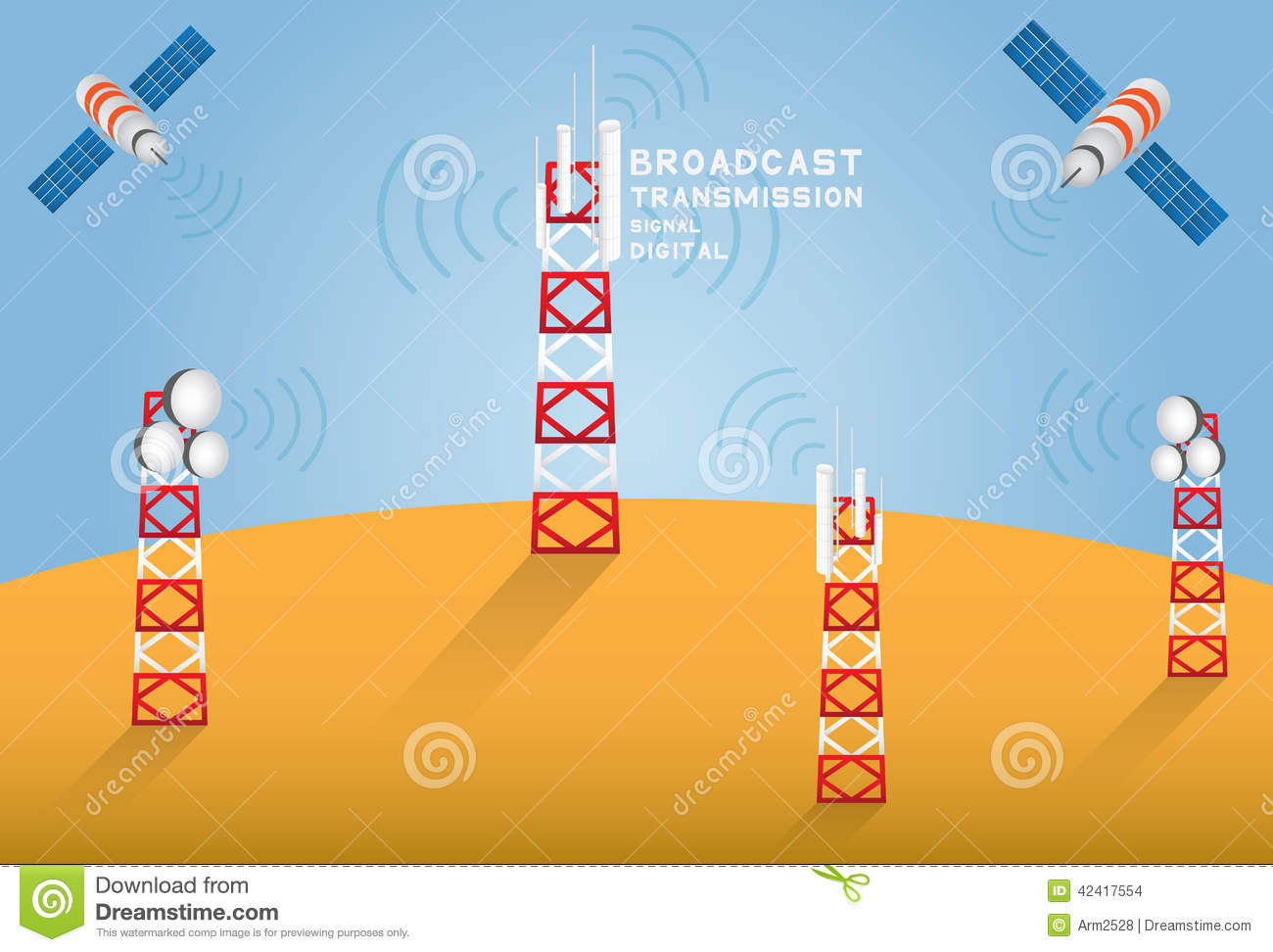 Broadcast stock vector  Illustration of tracking, receive