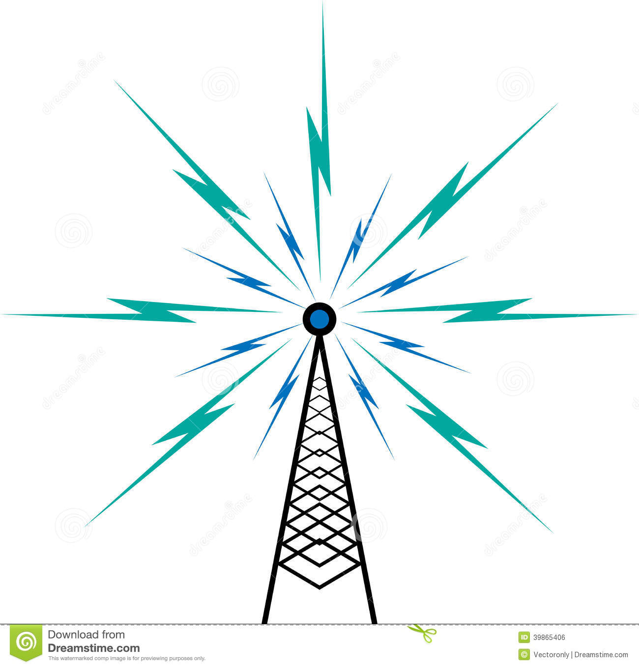 Broadcast Tower Vector Broadcast tower