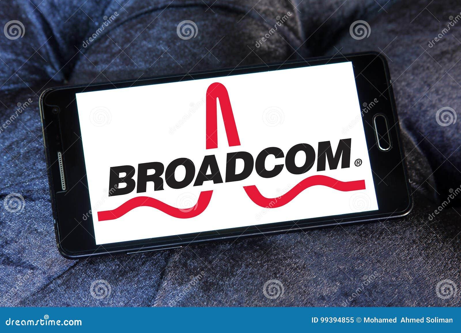 Broadcom company logo editorial image  Image of american