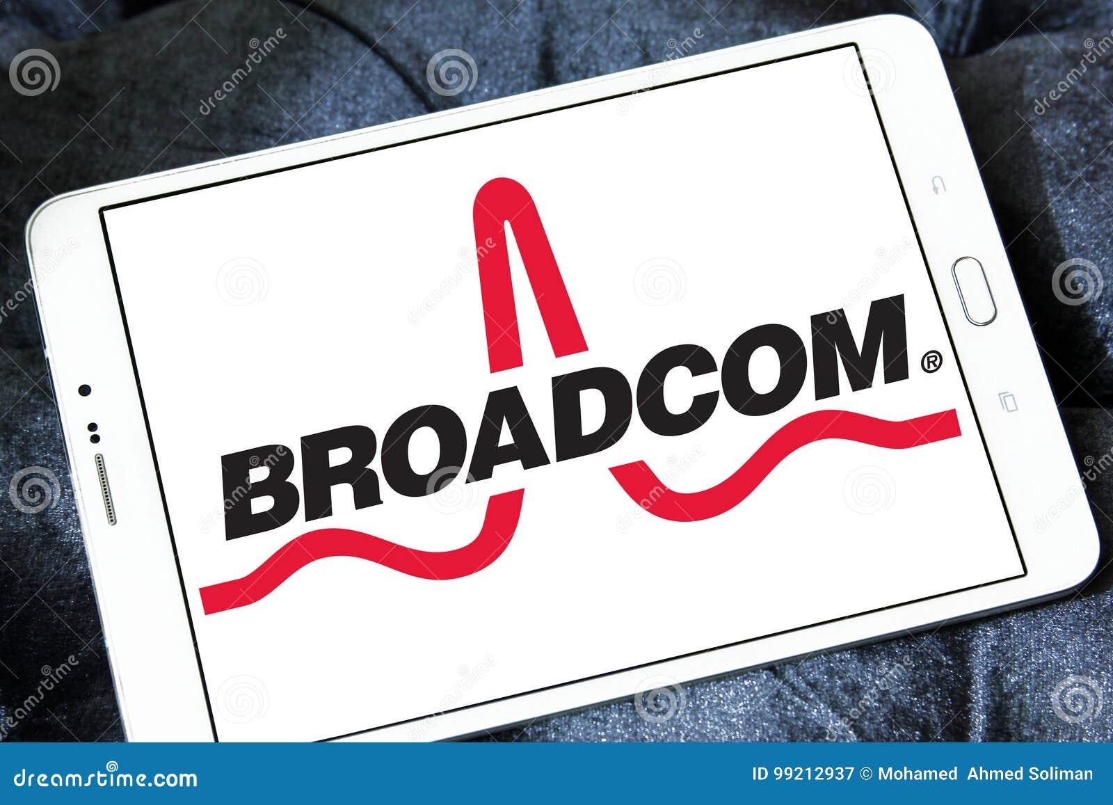 Broadcom company logo editorial photography  Image of