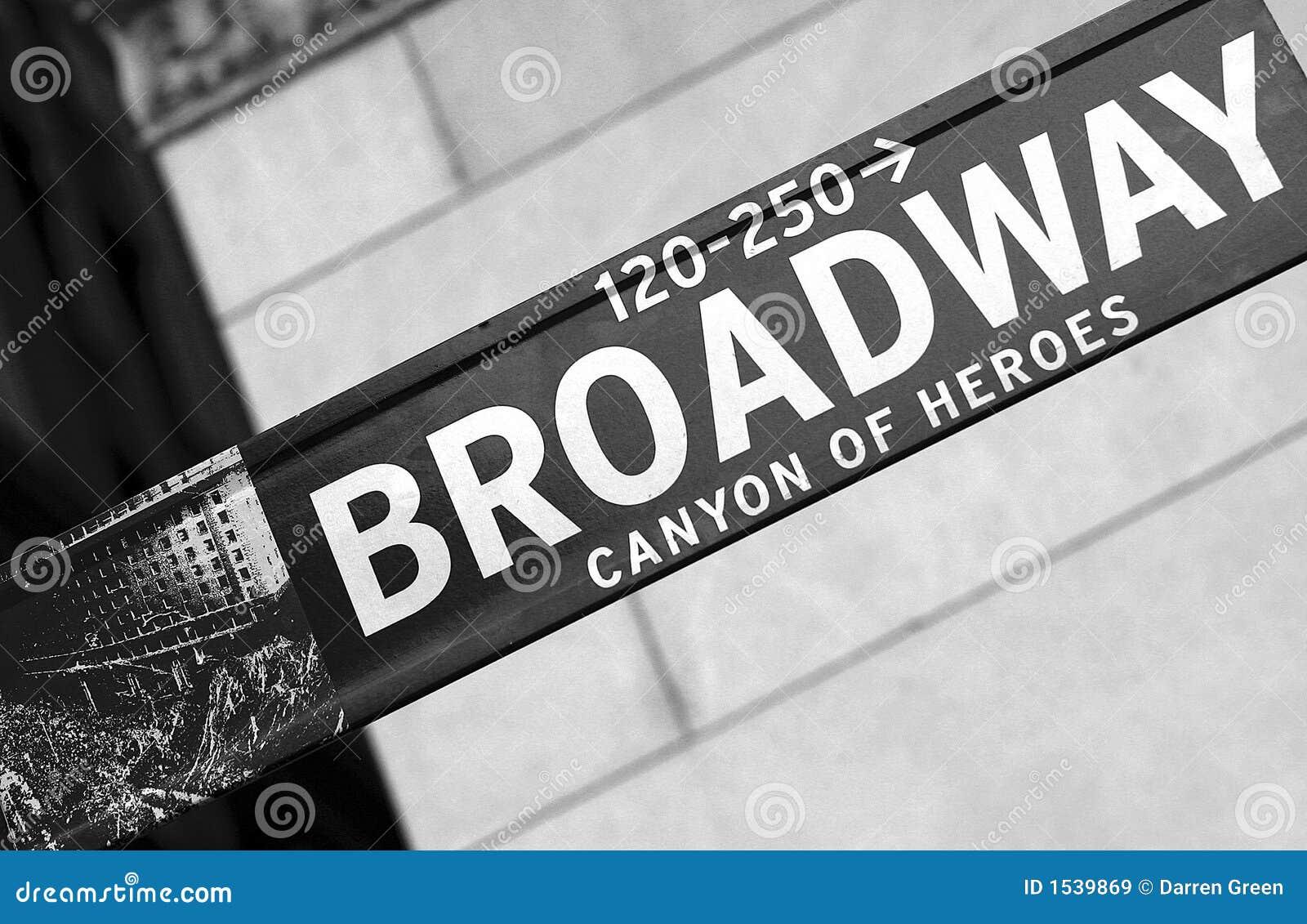 Broadway符号街道