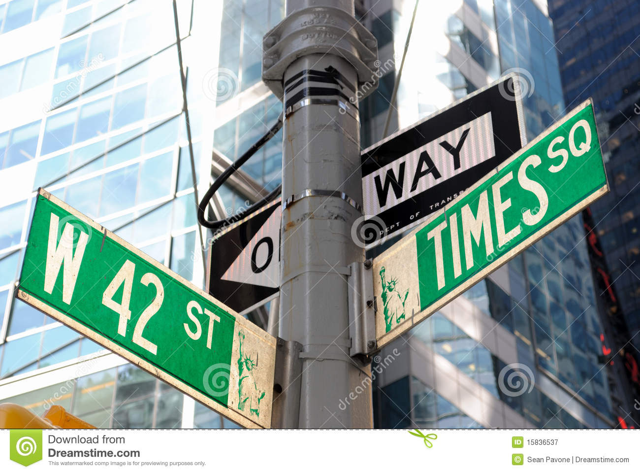 Broadway And 42nd Street Intersection Royalty Free Stock ...