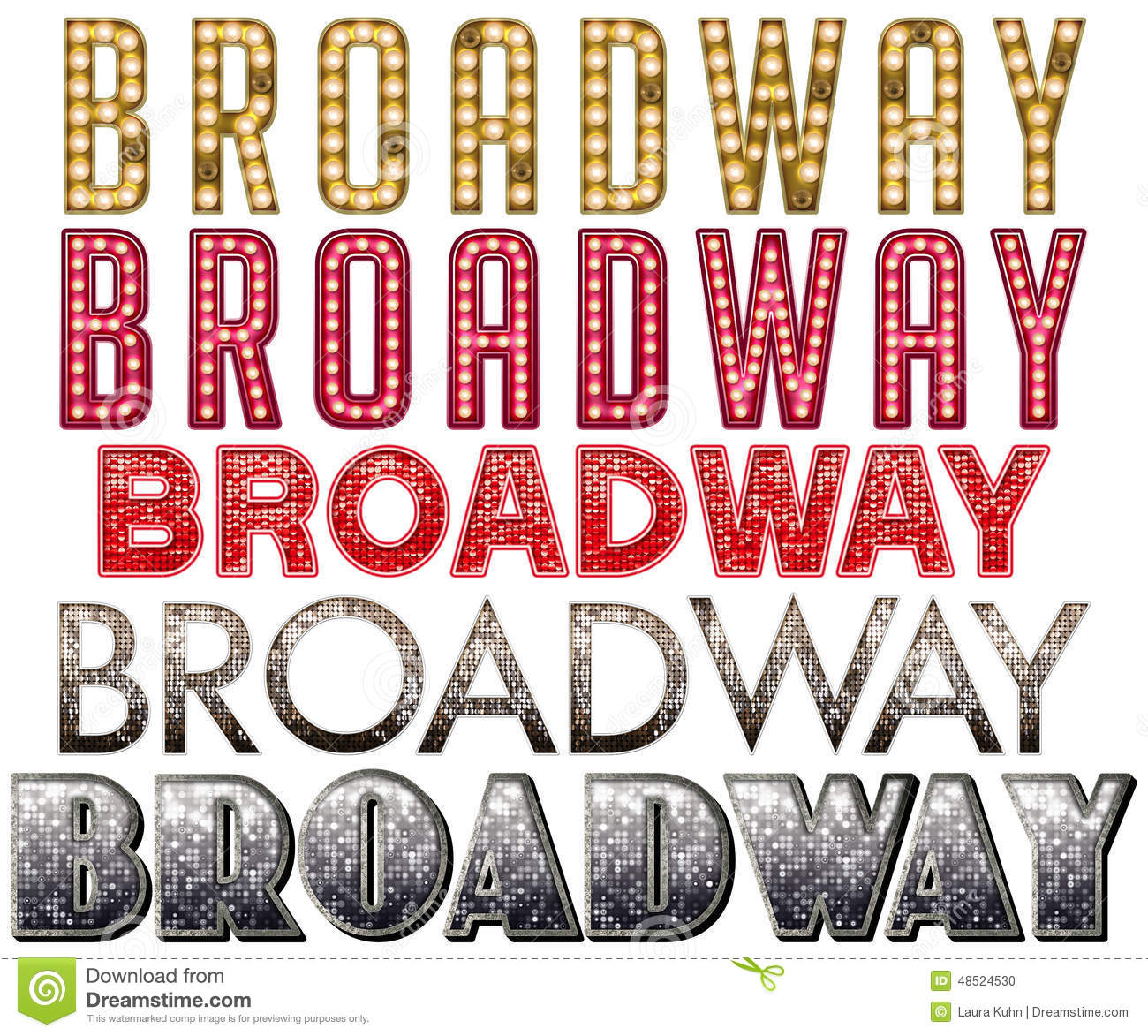 Broadway marquee word art stock photo image of for The broadway