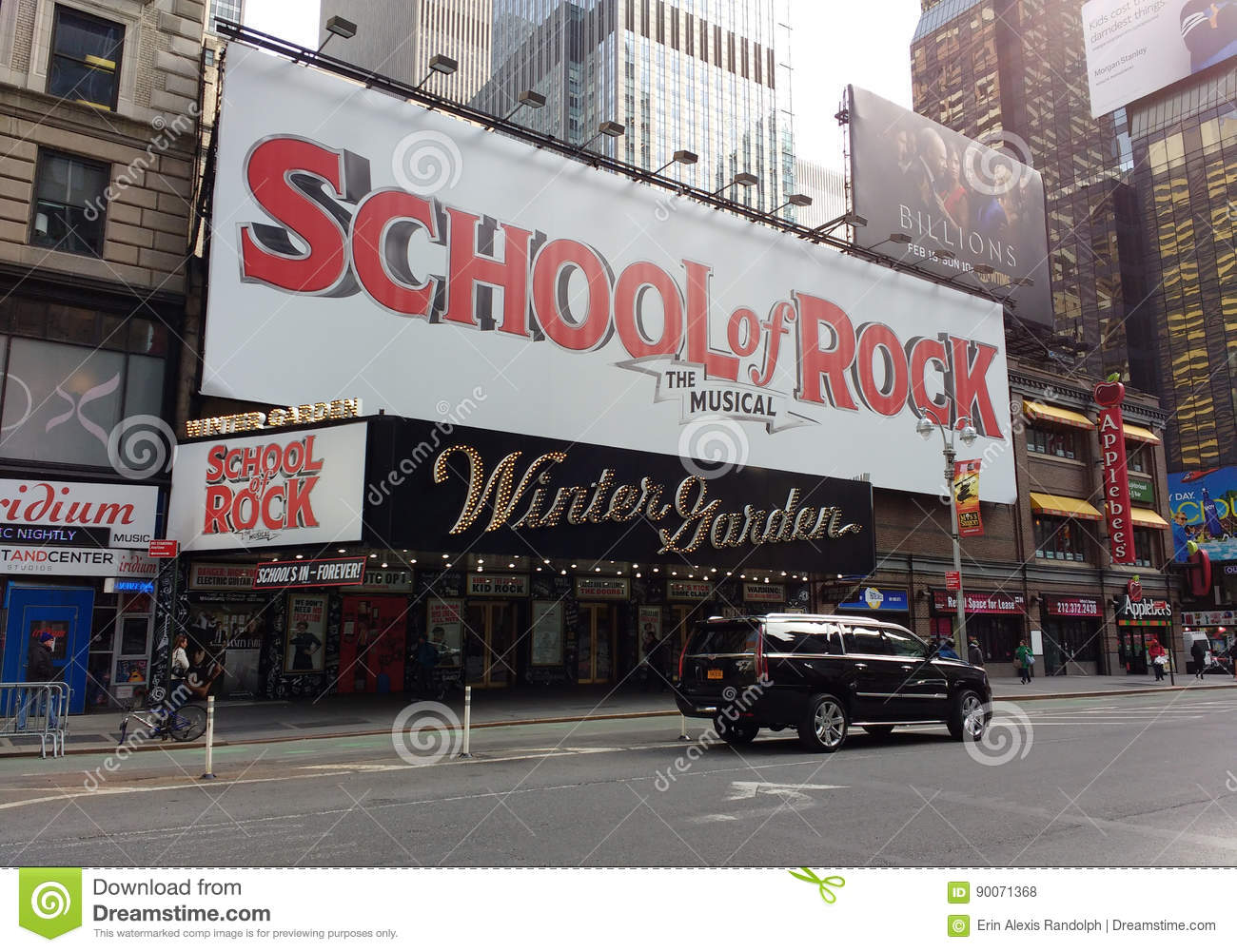 broadway musical of rock at the winter garden theatre nyc