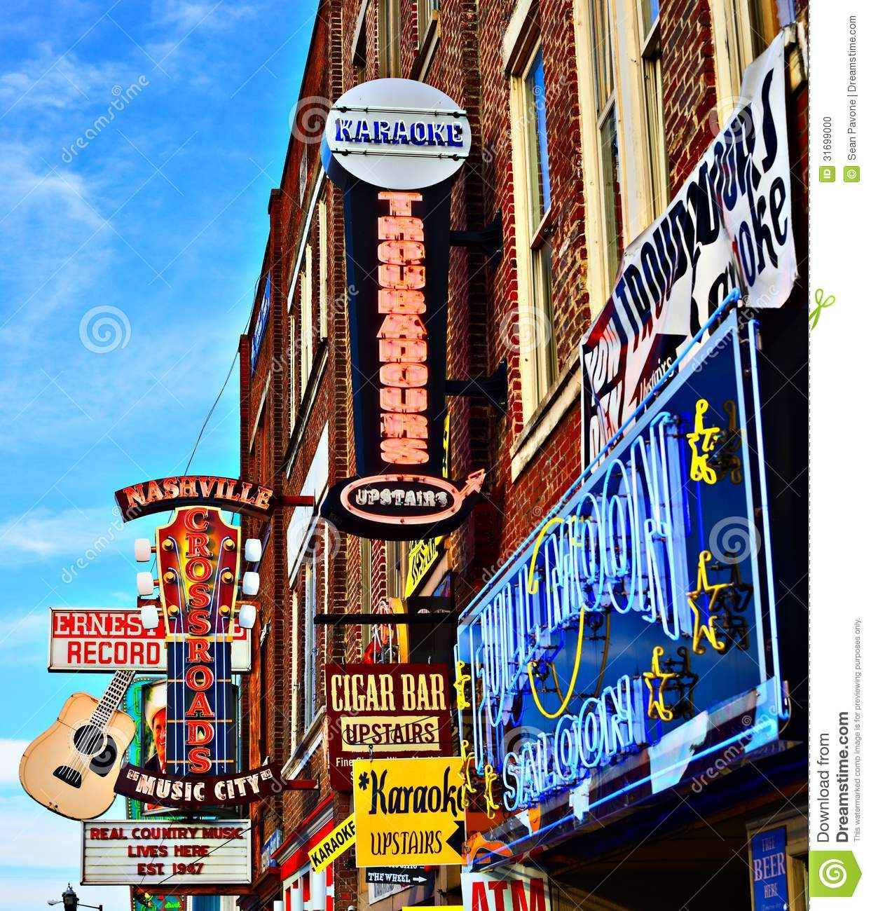 Country Music City Stock Photos Country Music City Stock: Broadway Nashville Editorial Image. Image Of Entertainment