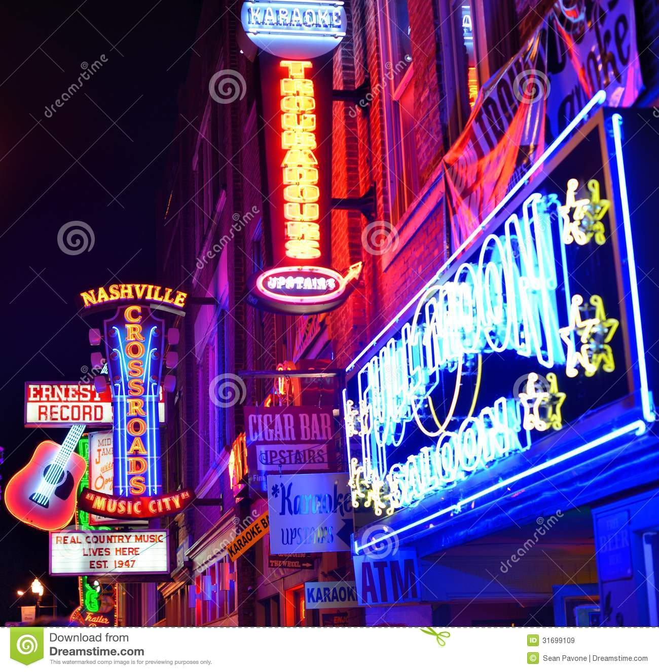 Country Music City Stock Photos Country Music City Stock: Broadway Nashville Editorial Stock Image. Image Of America