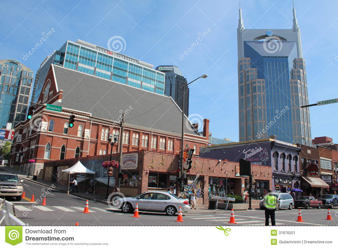 Broadway In Nashville, Tennessee Editorial Photo - Image of